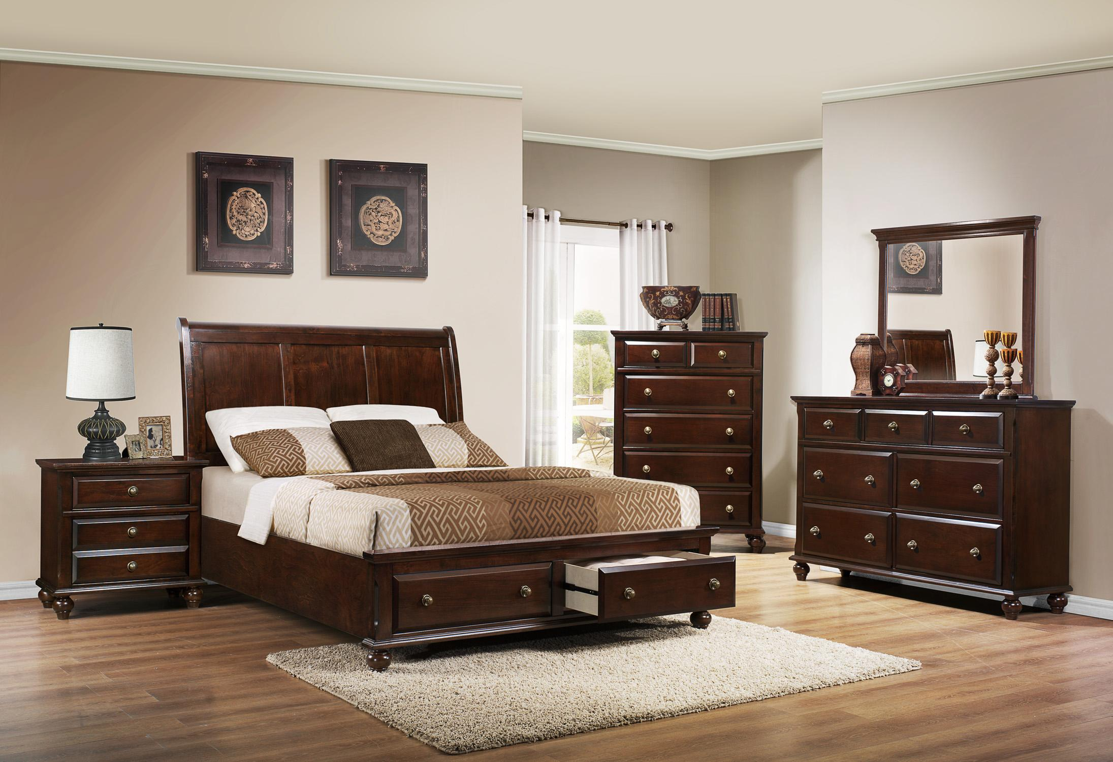 Crown mark portsmouth b6075 queen bedroom group wayside for Furniture markup