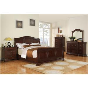 Cameron 4 piece queen bedroom set ruby gordon home Elements cameron bedroom set
