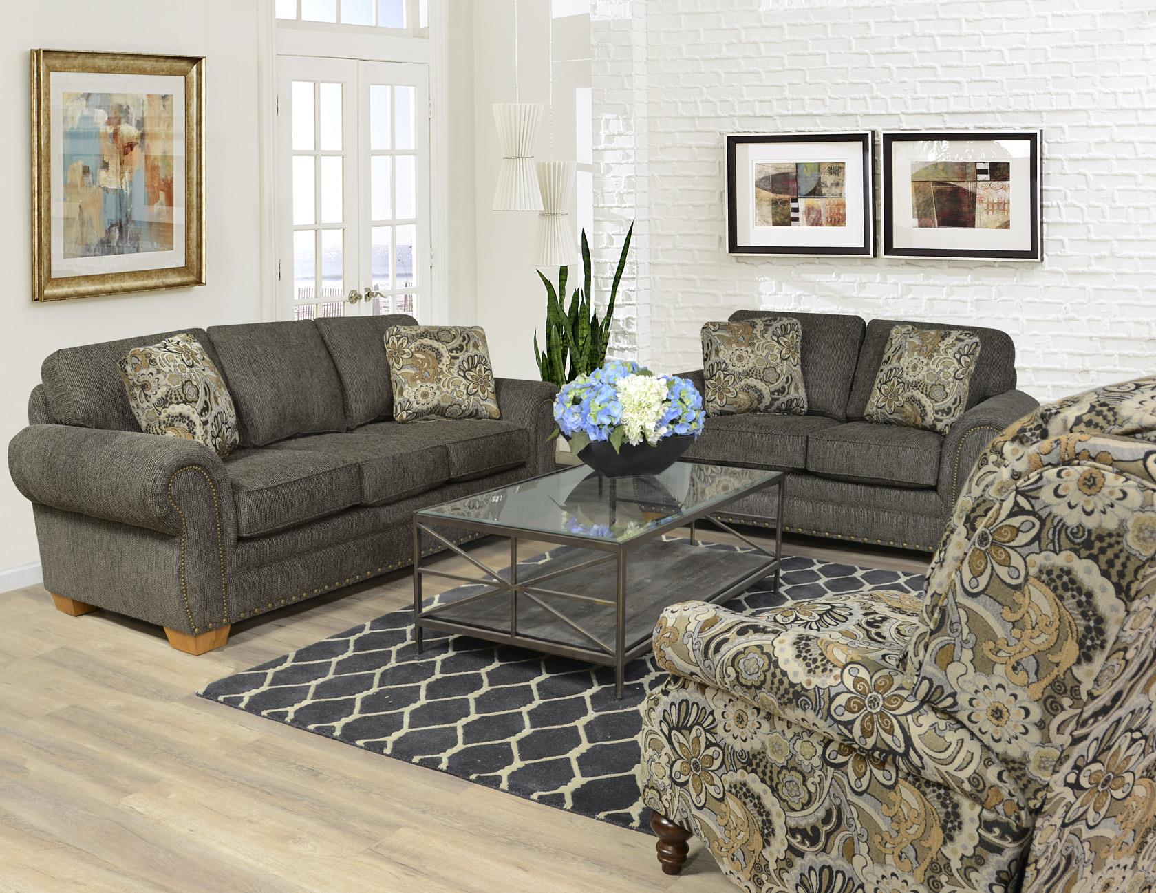 England Walters Stationary Living Room Group Dunk Bright Furniture Upholstery Group