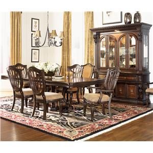 Fairmont designs grand estates 7 piece table and chair set for Fairmont designs dining room