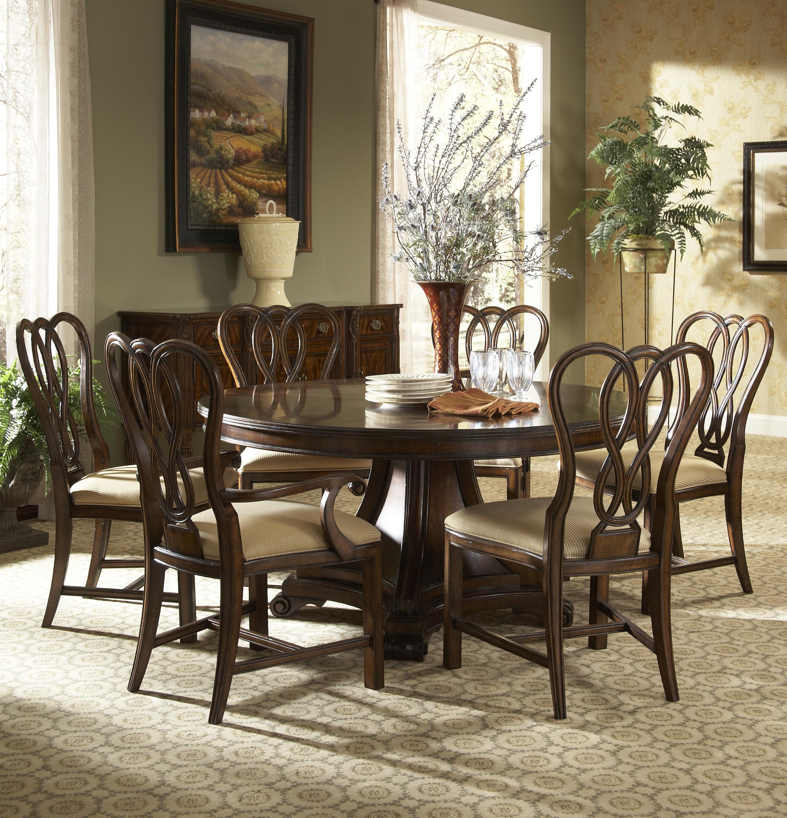 Hyde park formal dining room group by fine furniture for Fine dining room tables