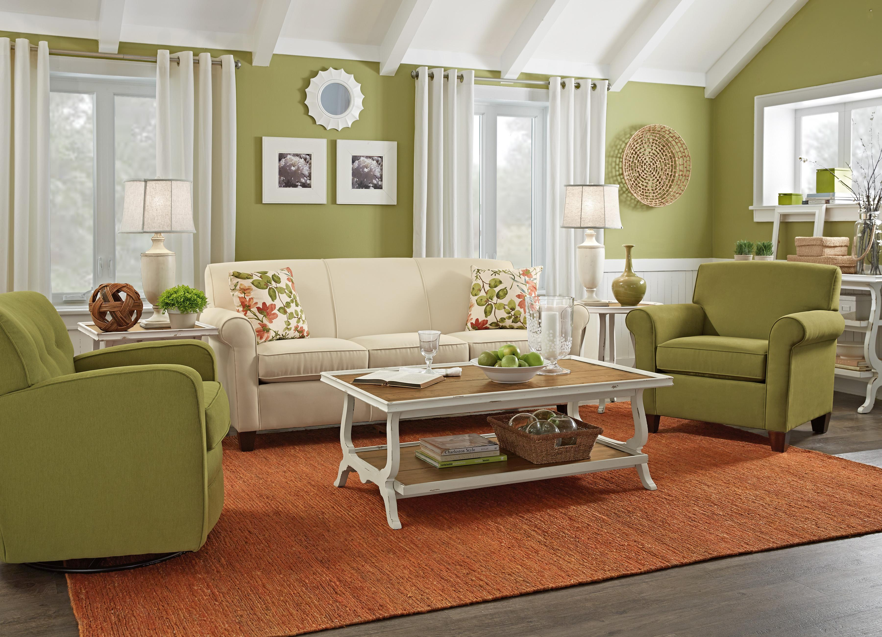 Flexsteel Dana Stationary Living Room Group Wayside