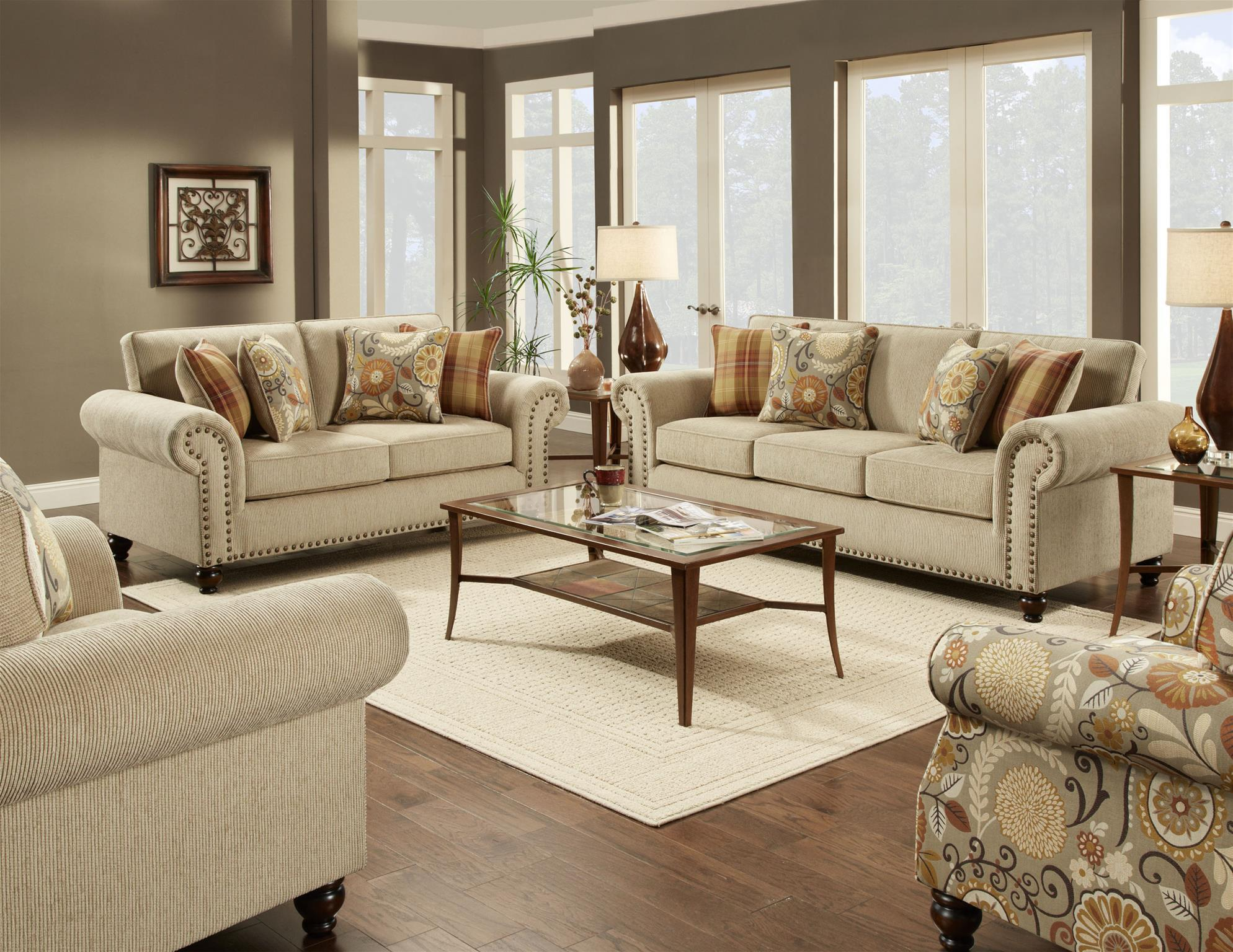 Fusion Furniture 3110 Stationary Living Room Group Olinde 39 S Furniture Stationary Living Room