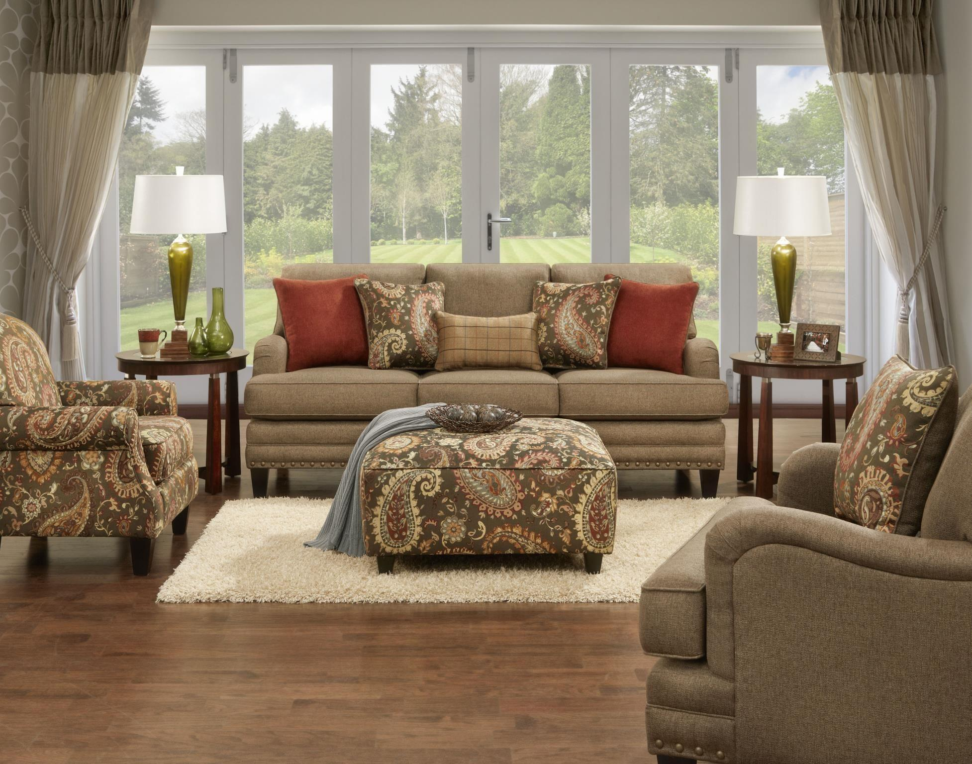 fusion furniture 5960 stationary living room group