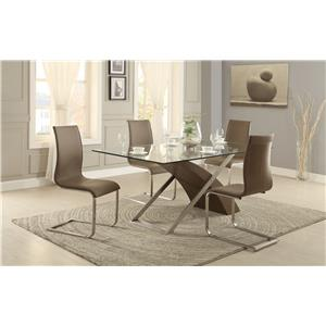 dining set with glass table top value city furniture dining 5