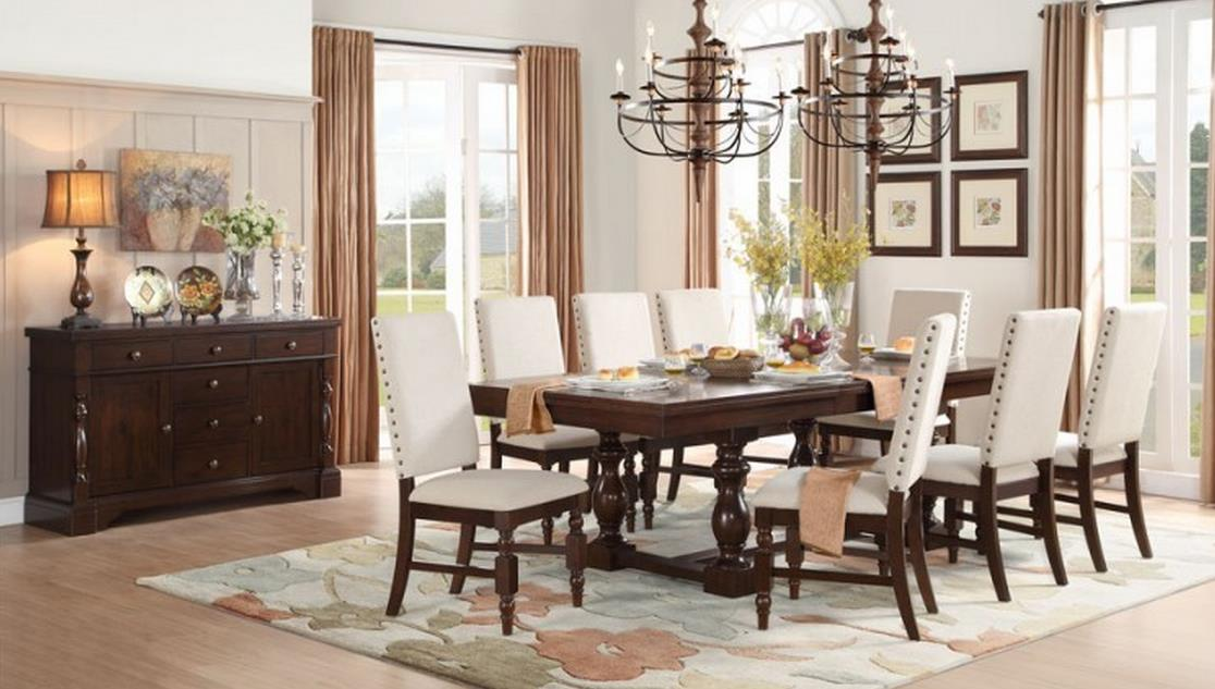 Homelegance yates casual dining room group del sol for Casual dining room