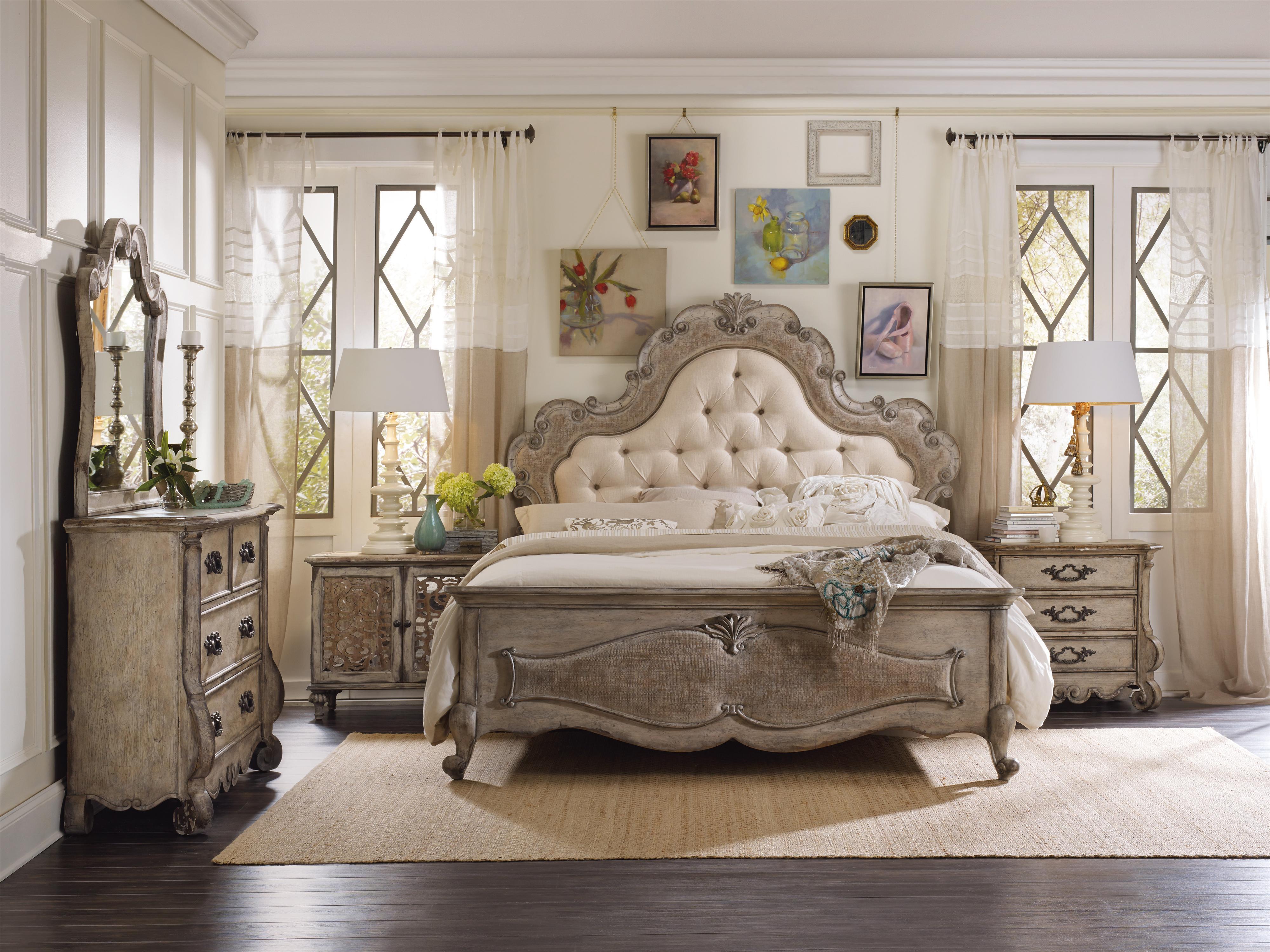 Hooker furniture chatelet king bedroom group belfort for Bedroom fabric ideas