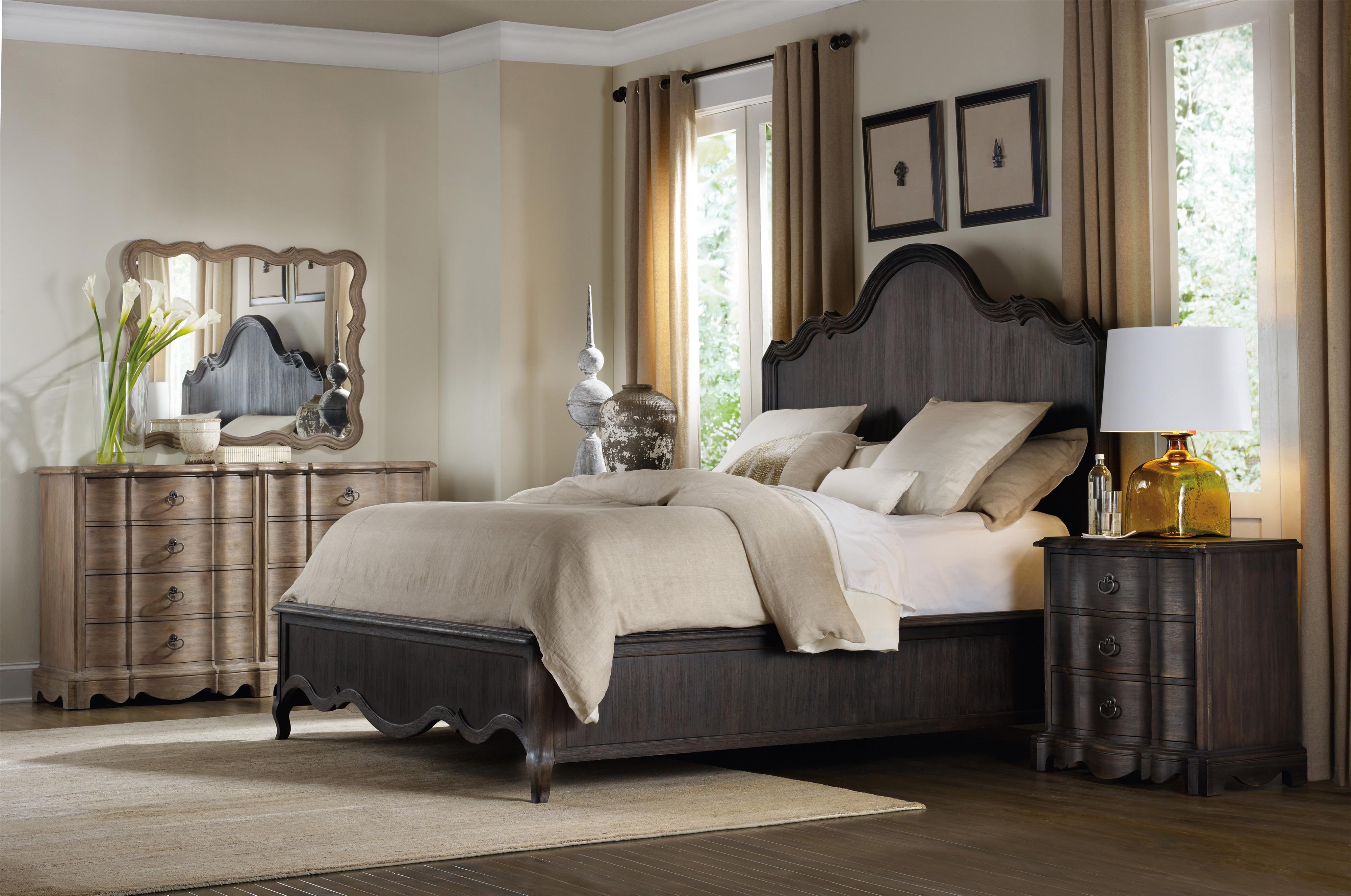 Corsica King Panel Bedroom Group by Hooker Furniture at Pedigo Furniture