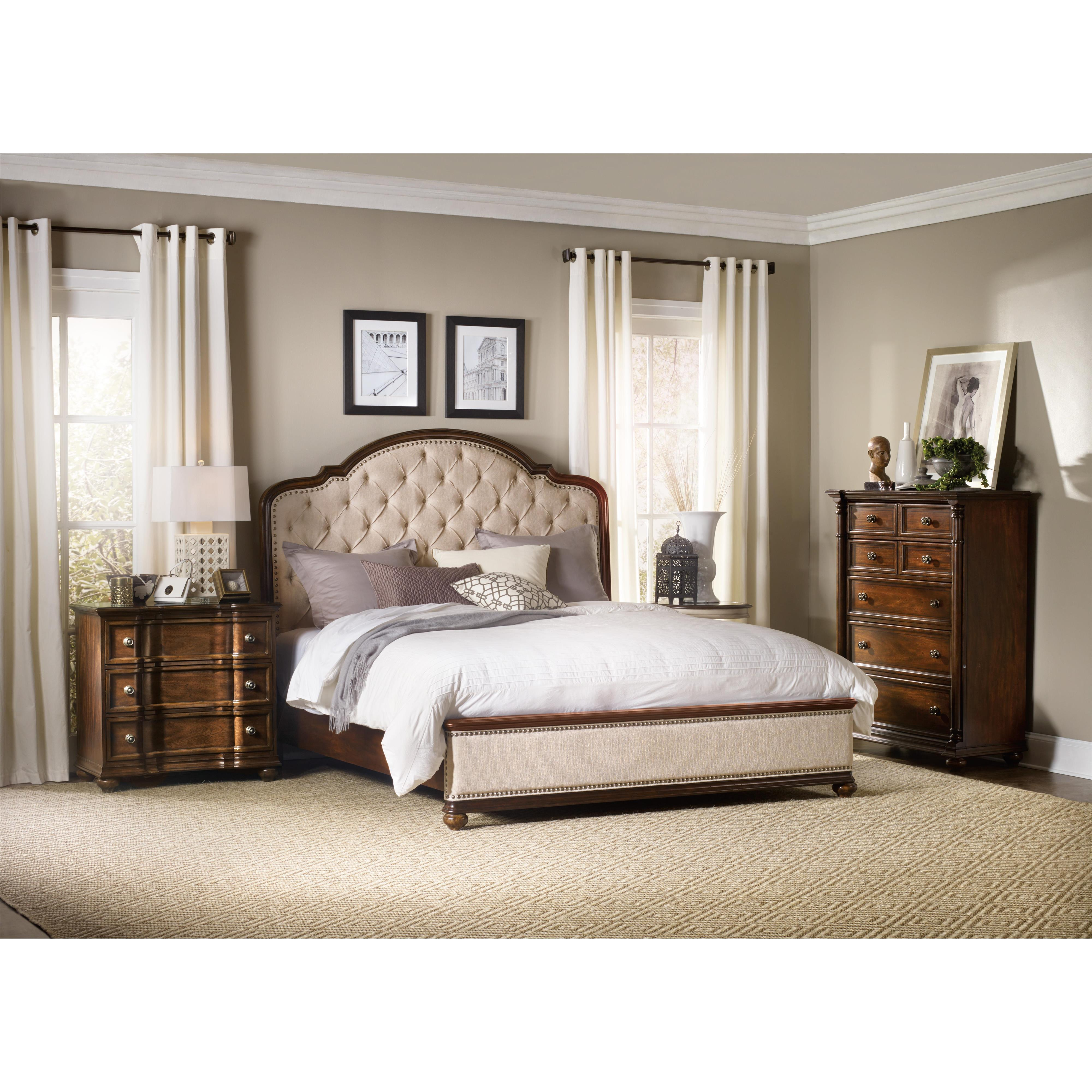 Hooker furniture leesburg california king bedroom group for Bedroom furniture groups