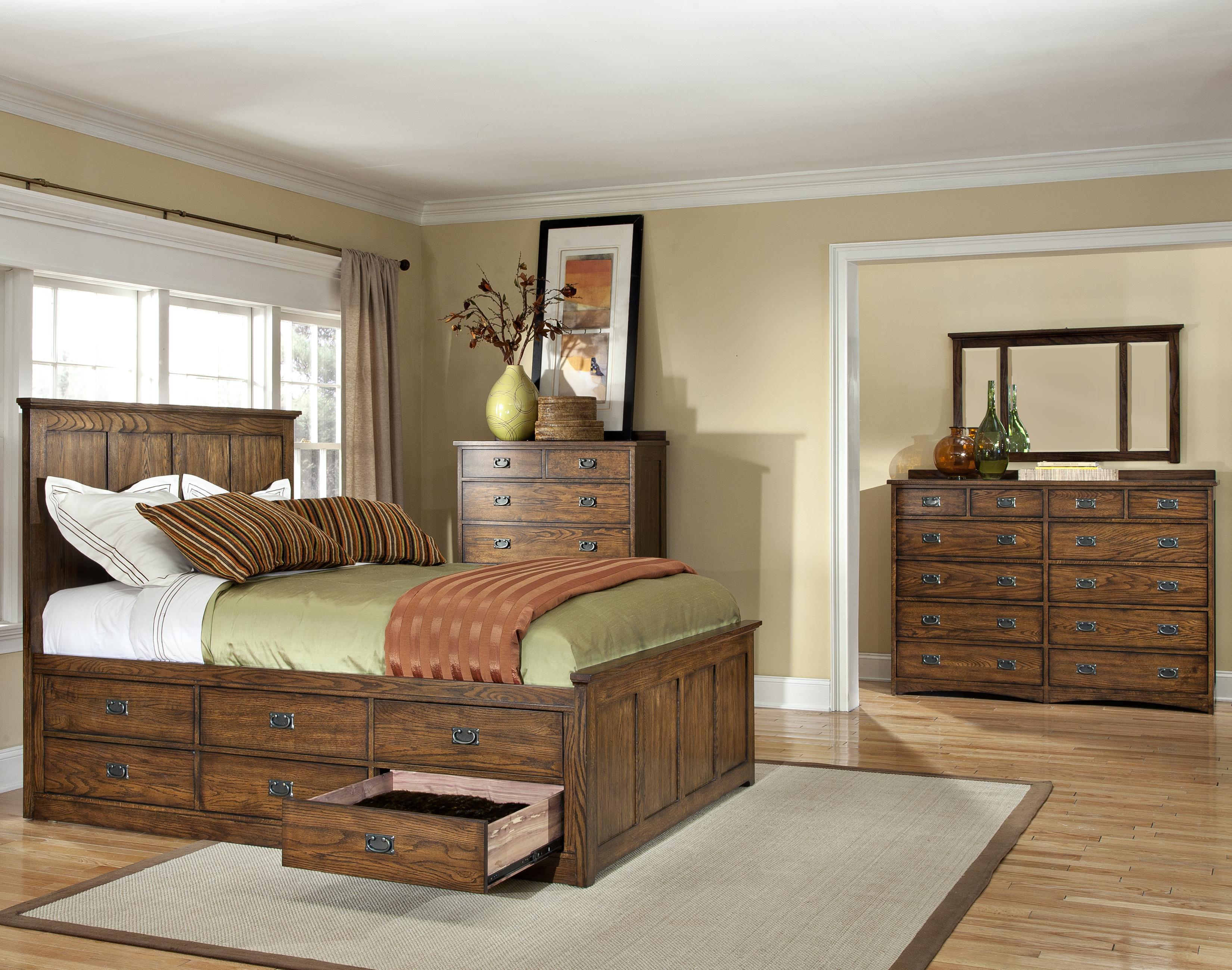 intercon oak park queen bedroom group furniture options