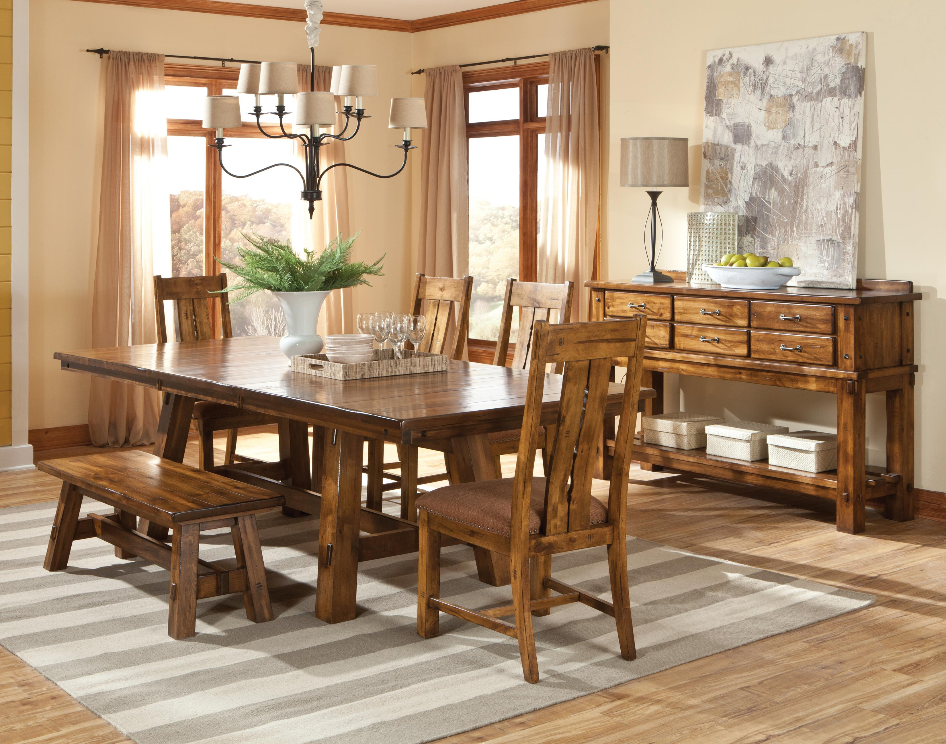 Intercon timberline casual dining room group wayside for Casual dining room tables
