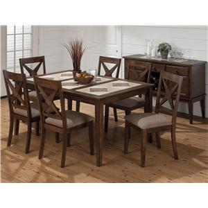 Jofran Tucson Brown Counter Height X Back Stool With Padded Seat Boulevard Home Furnishings