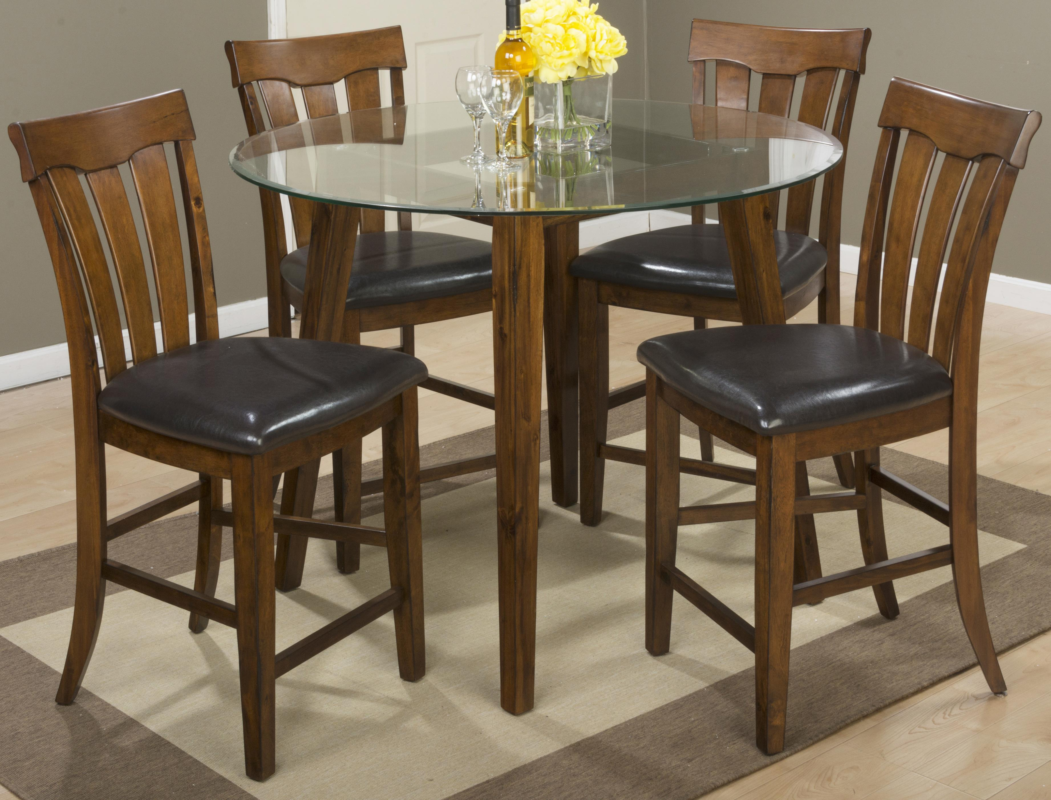 jofran plantation 48 round counter height table and stool set boulevard home furnishings. Black Bedroom Furniture Sets. Home Design Ideas