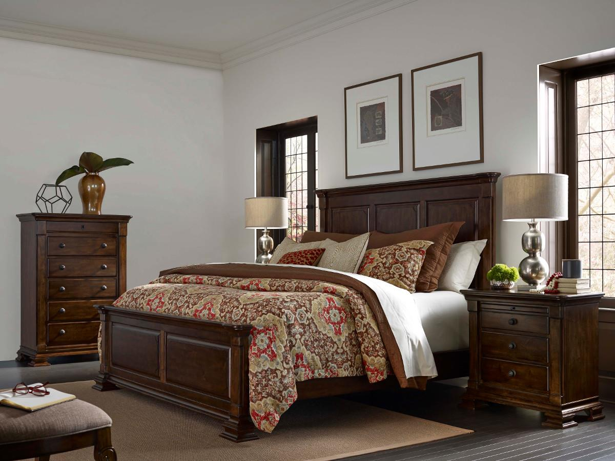 Kincaid furniture portolone king bedroom group olinde 39 s for Bedroom furniture groups