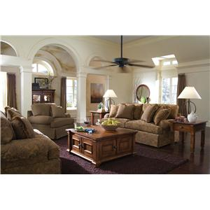 Kincaid Furniture Tulsa Skirted Stationary Sofa Story Lee Furniture