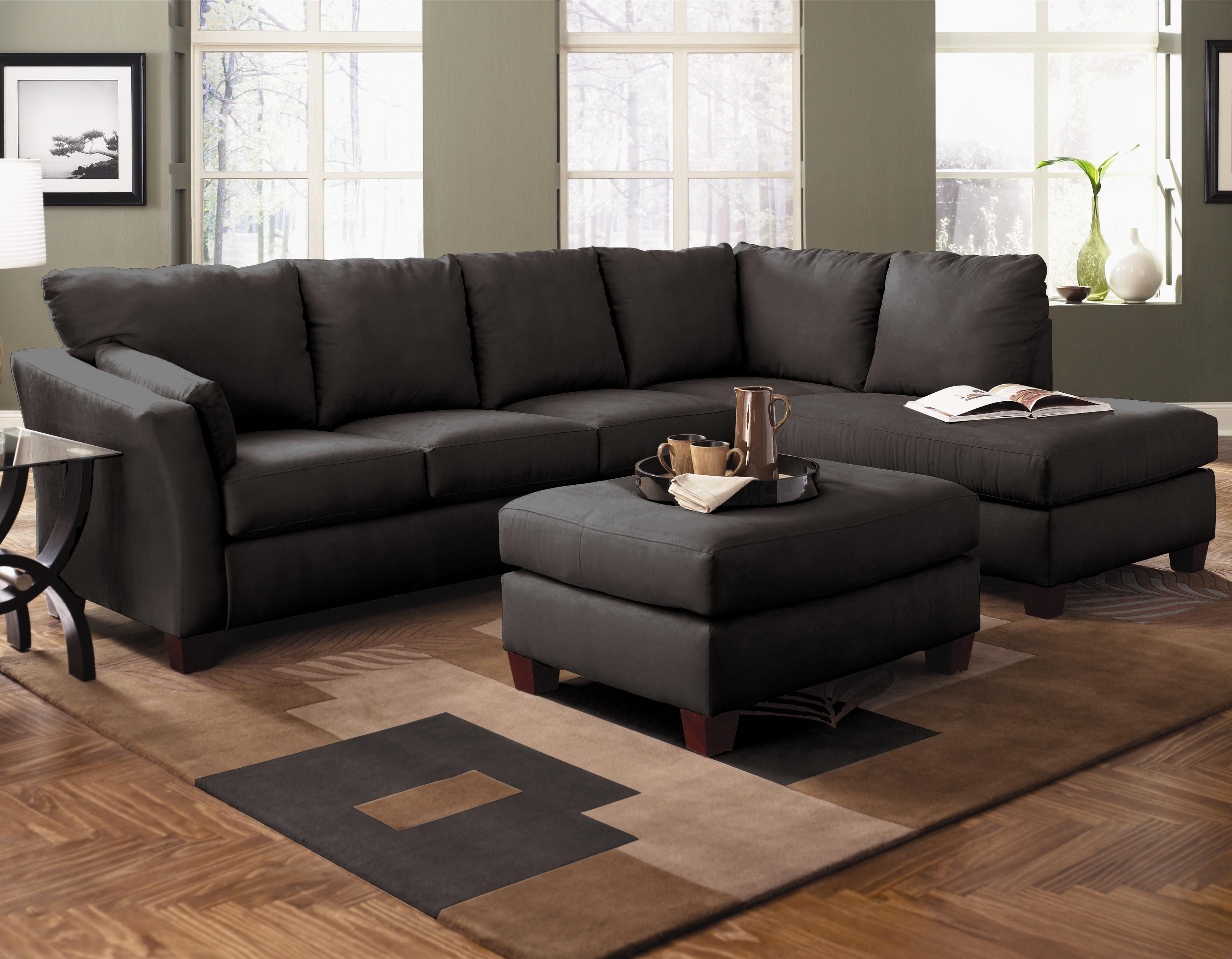 two piece sectional sofa with chaise affordable furniture. Black Bedroom Furniture Sets. Home Design Ideas