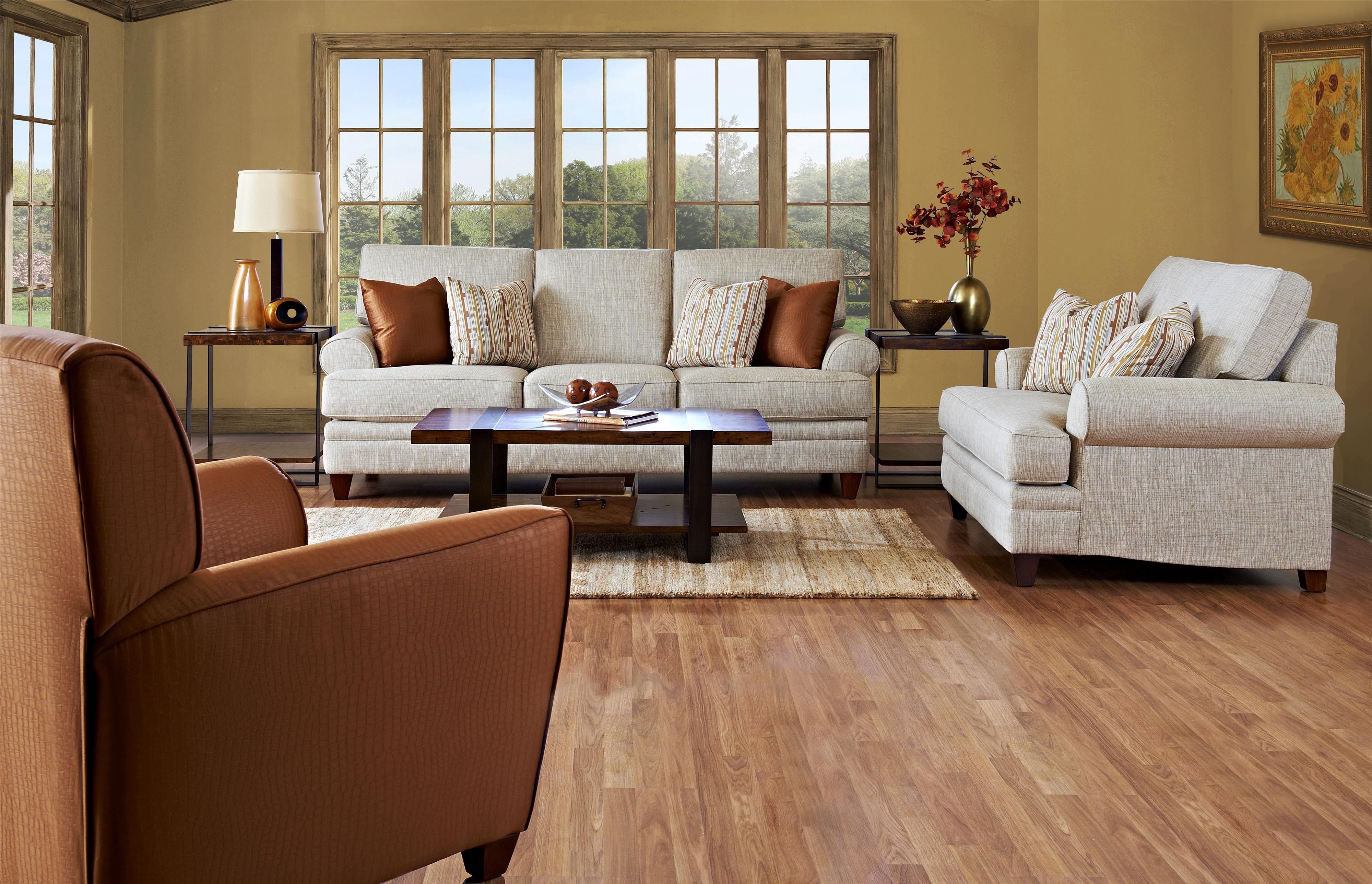 Klaussner Fresno Stationary Living Room Group Dunk