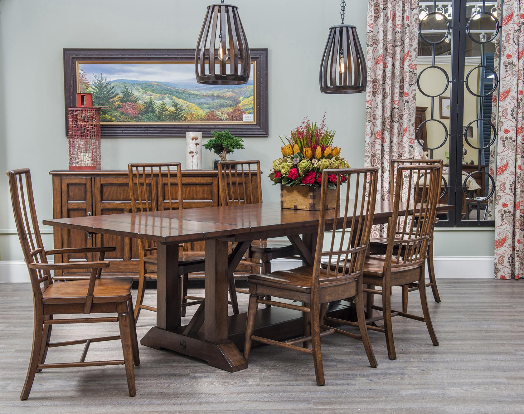Easton collection blue ridge formal dining room group for Dining room tables easton