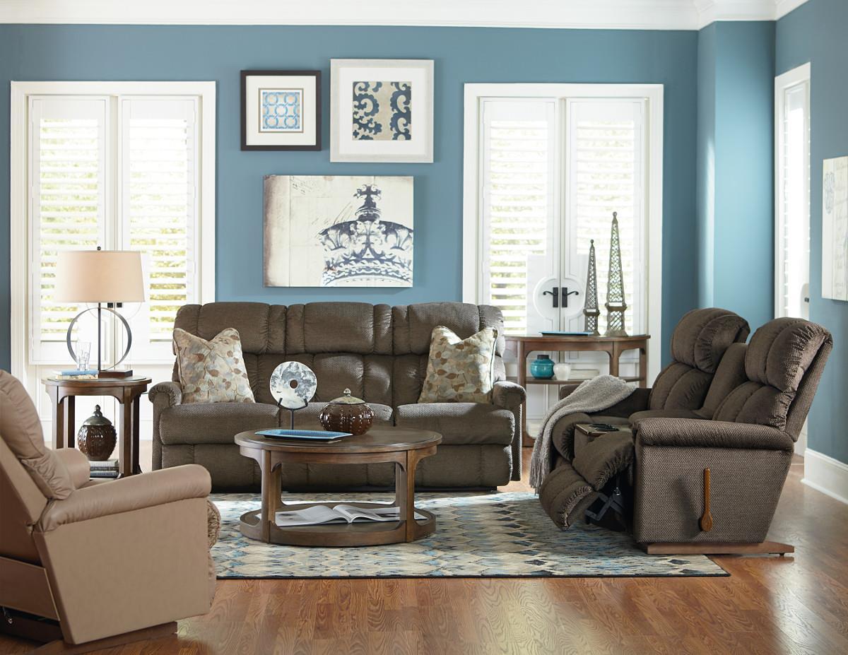La Z Boy Pinnacle Reclining Living Room Group Knight Furniture Mattress Reclining Living