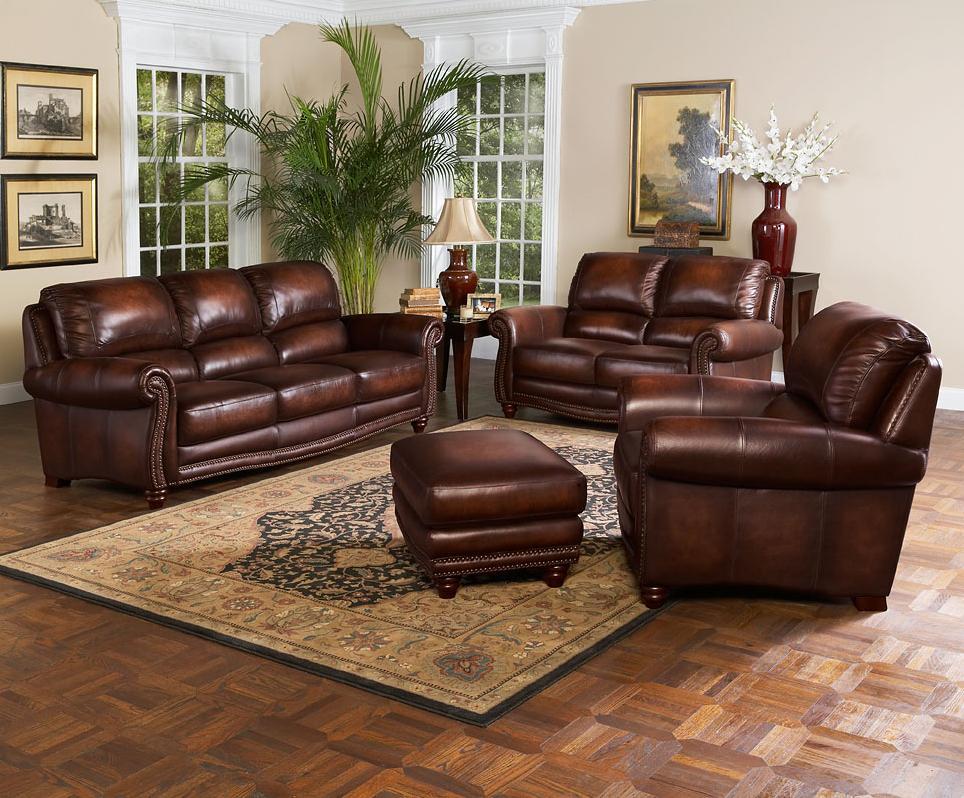 Leather Italia Usa James Stationary Living Room Group
