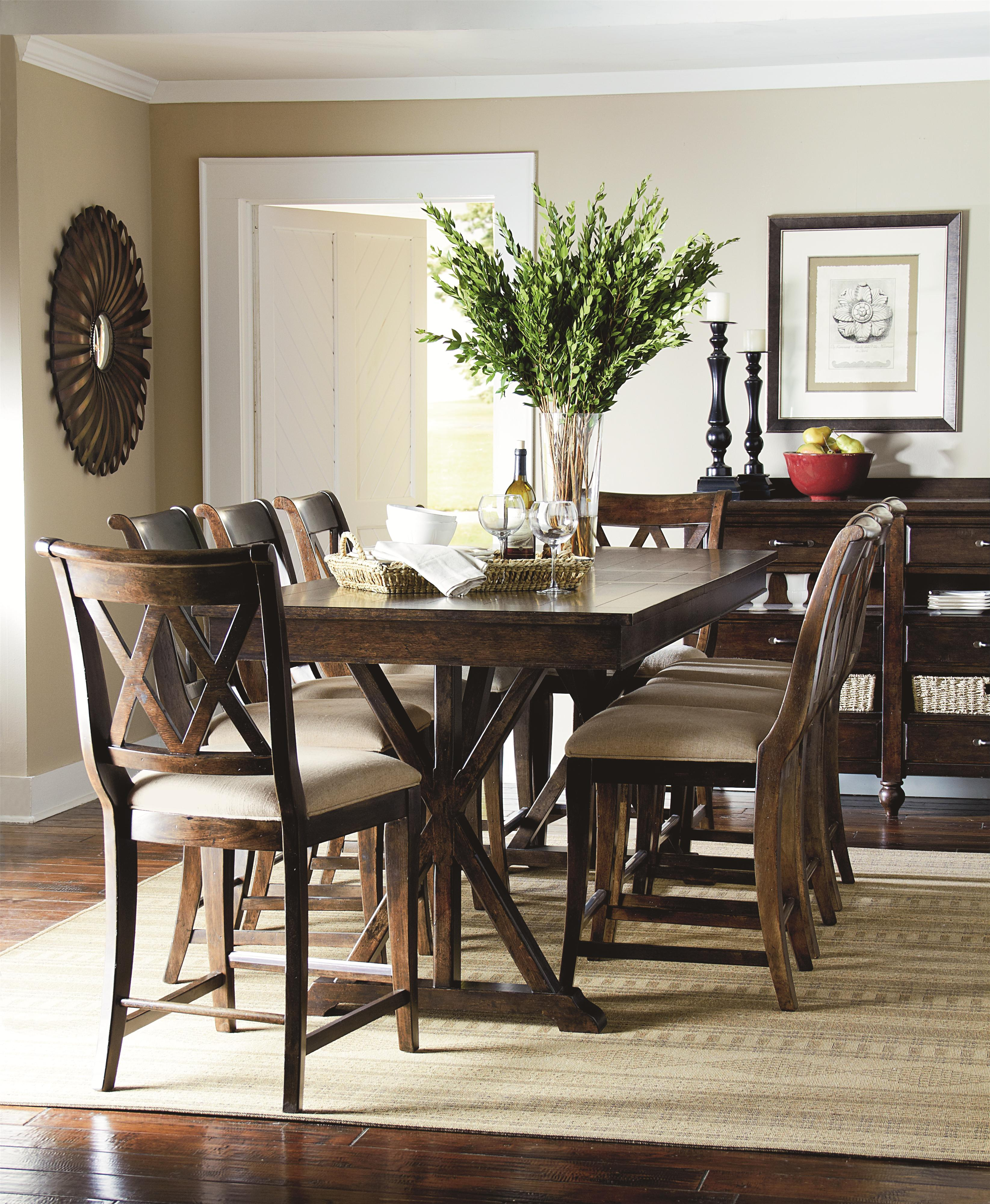 Legacy classic thatcher casual dining room group belfort for Casual dining room furniture