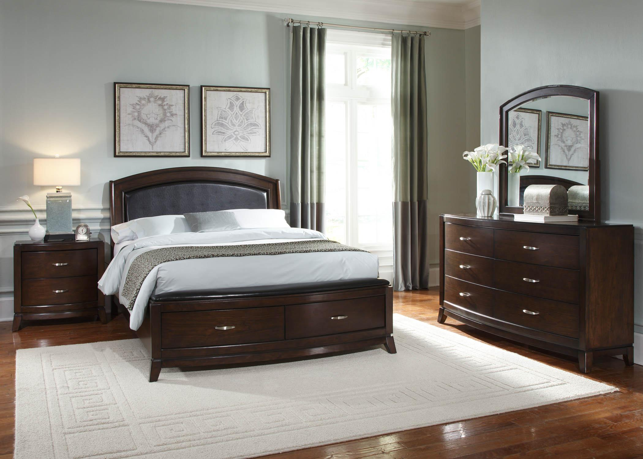 Avalon 4pc Queen Storage Bedroom Set Rotmans Bedroom Groups Worcester Boston Ma