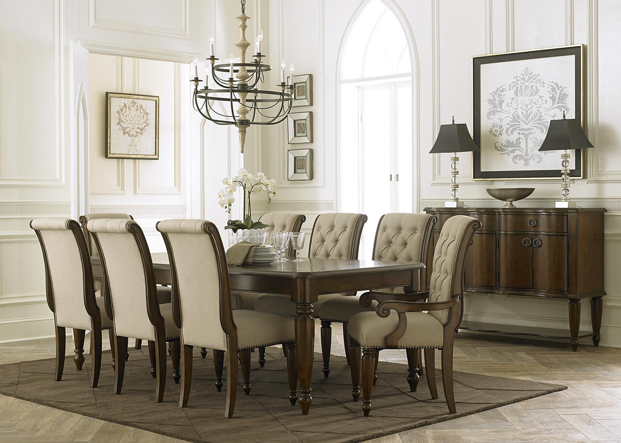 Liberty furniture cotswold formal dining room group for Formal dining room