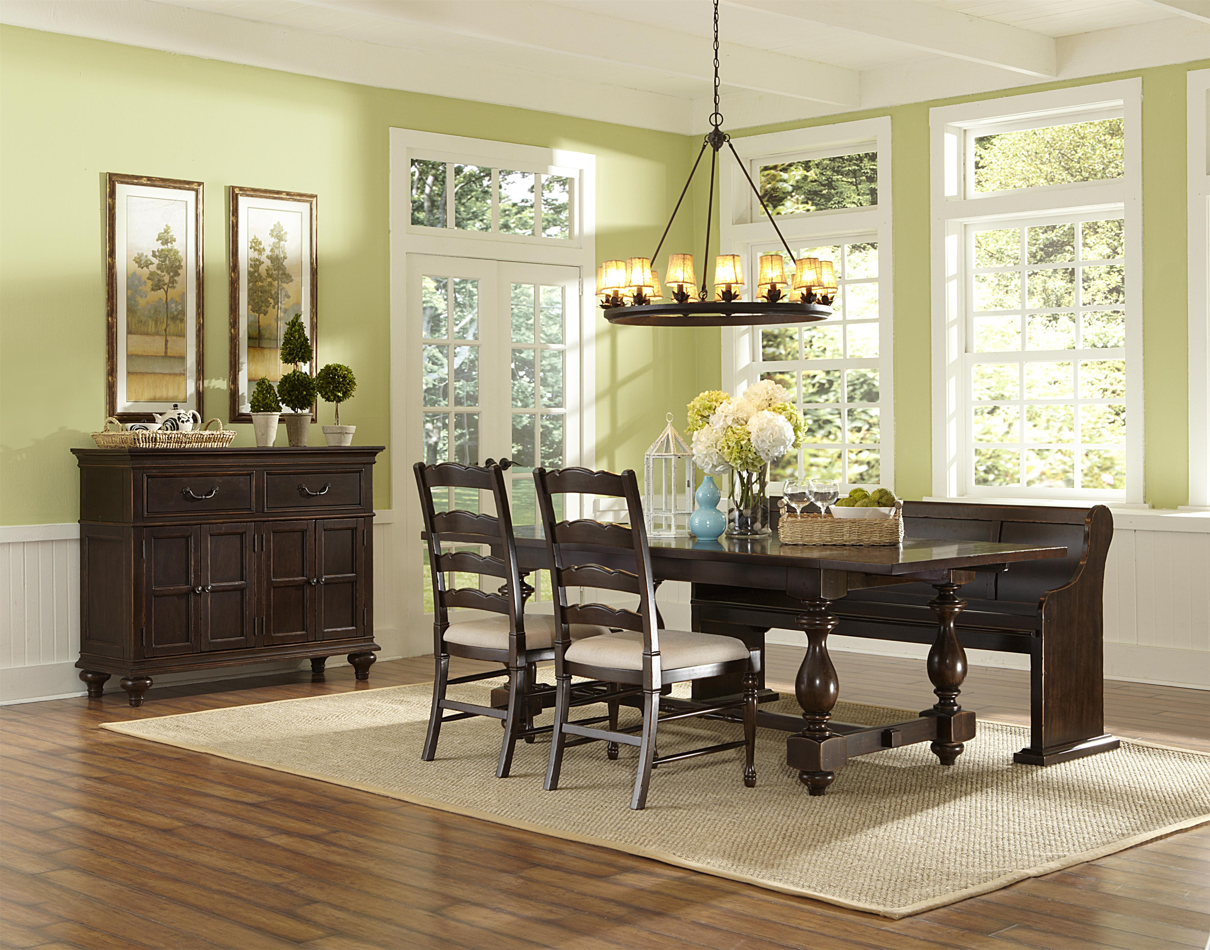 Magnussen home loren casual dining room group wayside for Casual dining room
