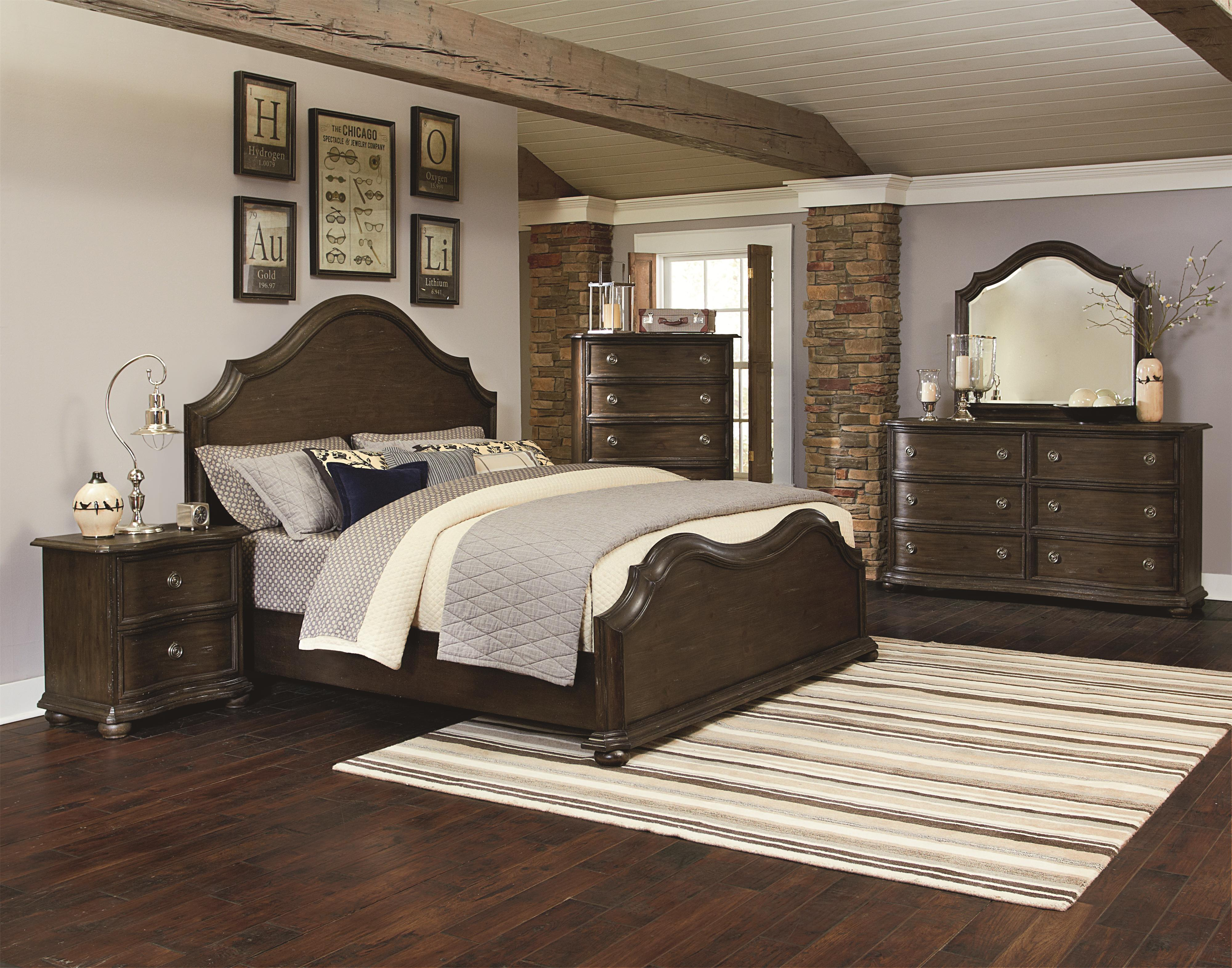 Magnussen home muirfield bedroom queen bedroom group for Bedroom furniture 30144