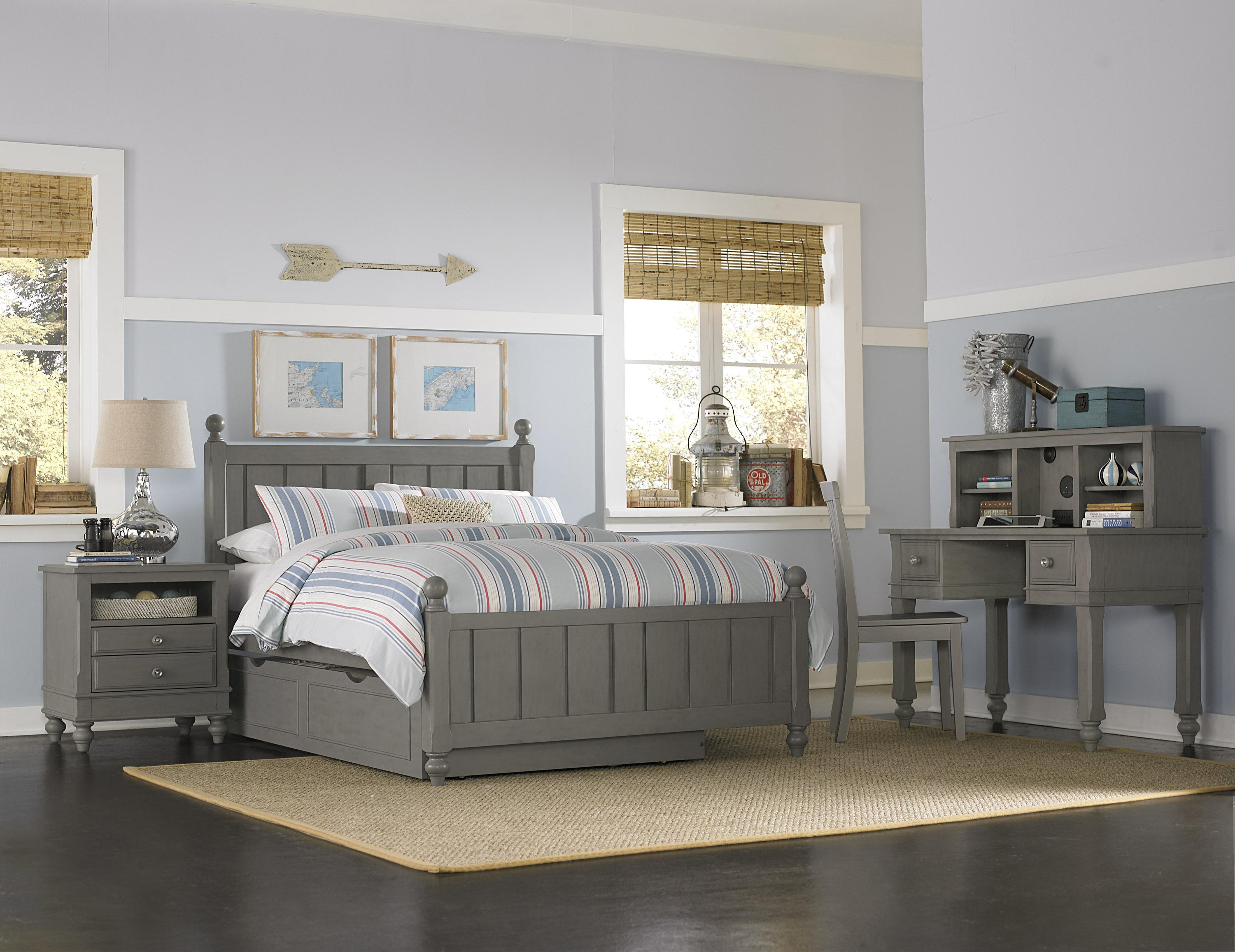 Ne kids lake house twin kennedy trundle bed group 3 wayside furniture bedroom groups Lake home bedroom furniture