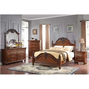 New classic jaquelyn queen bedroom group beck 39 s furniture bedroom group sacramento rancho for Bedroom furniture in sacramento
