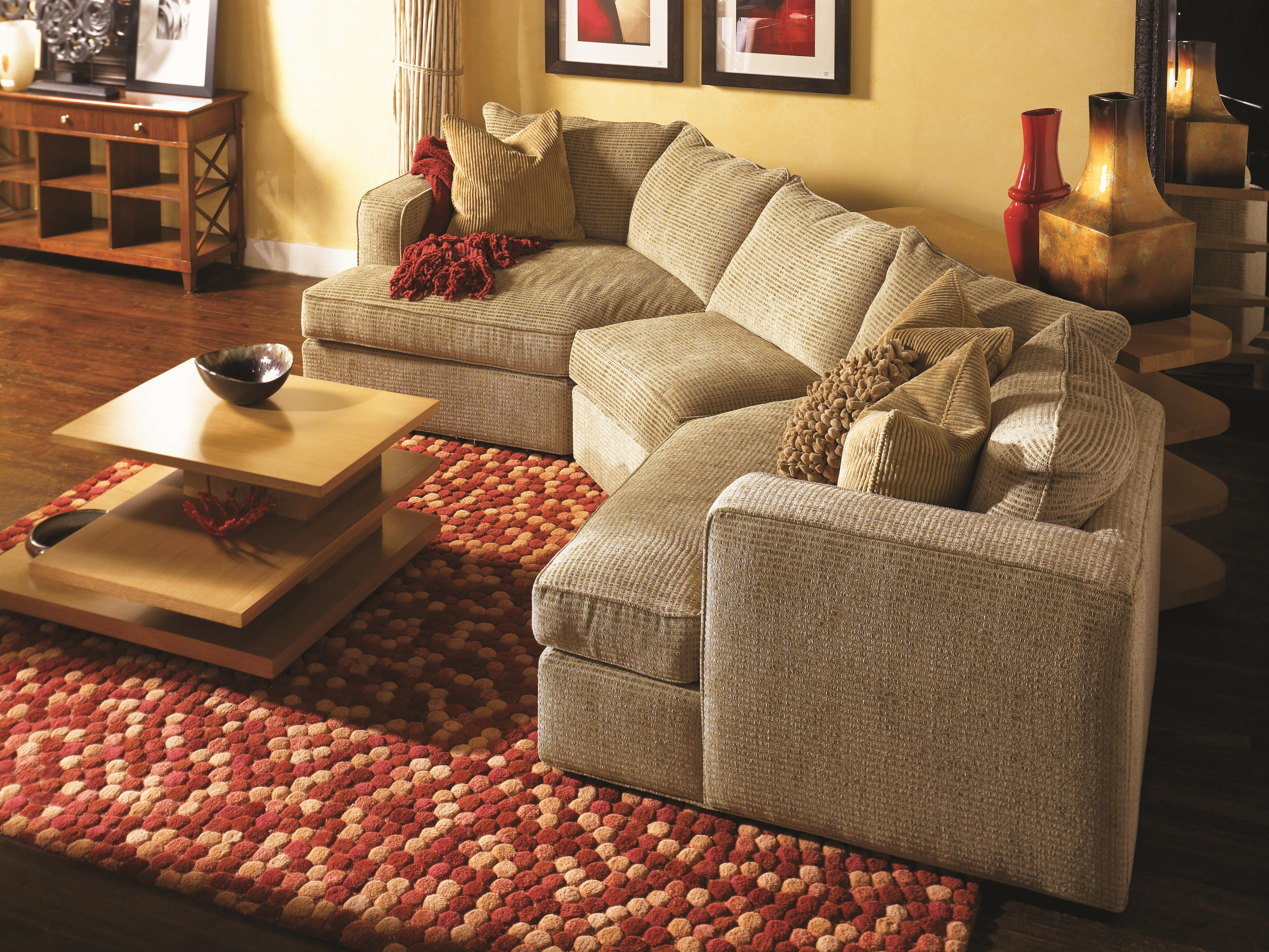 Very Norwalk Milford Sectional Sofa with 2 End Angle Chaises and Track  WA45