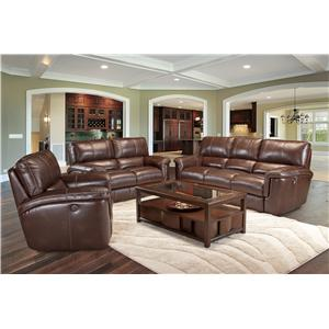 Casual Duel Power Reclining Sofa With Pillow Top Arms Hitchcock By Parker Living Wilcox