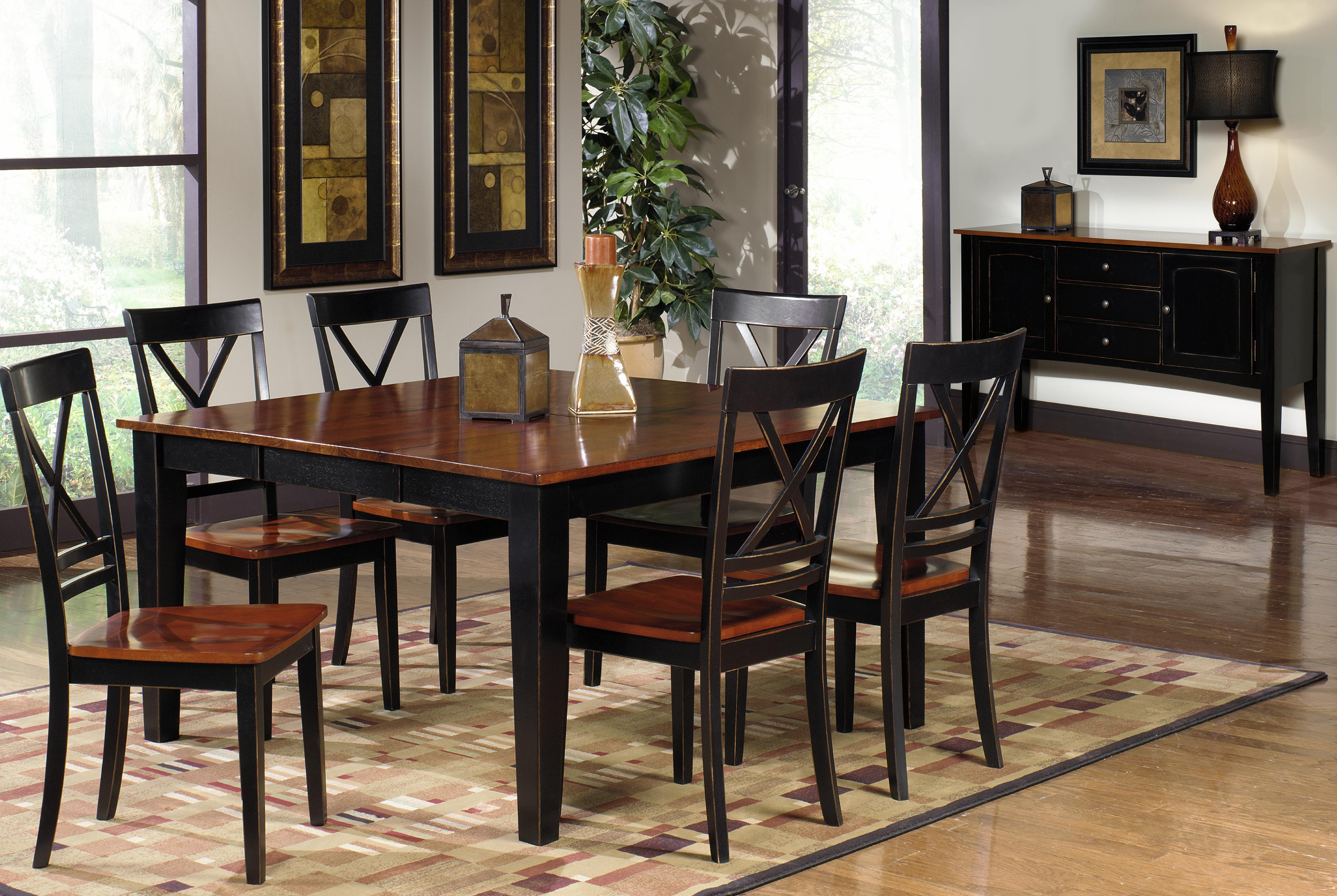 Progressive furniture cosmo casual dining room group for Casual dining room chairs