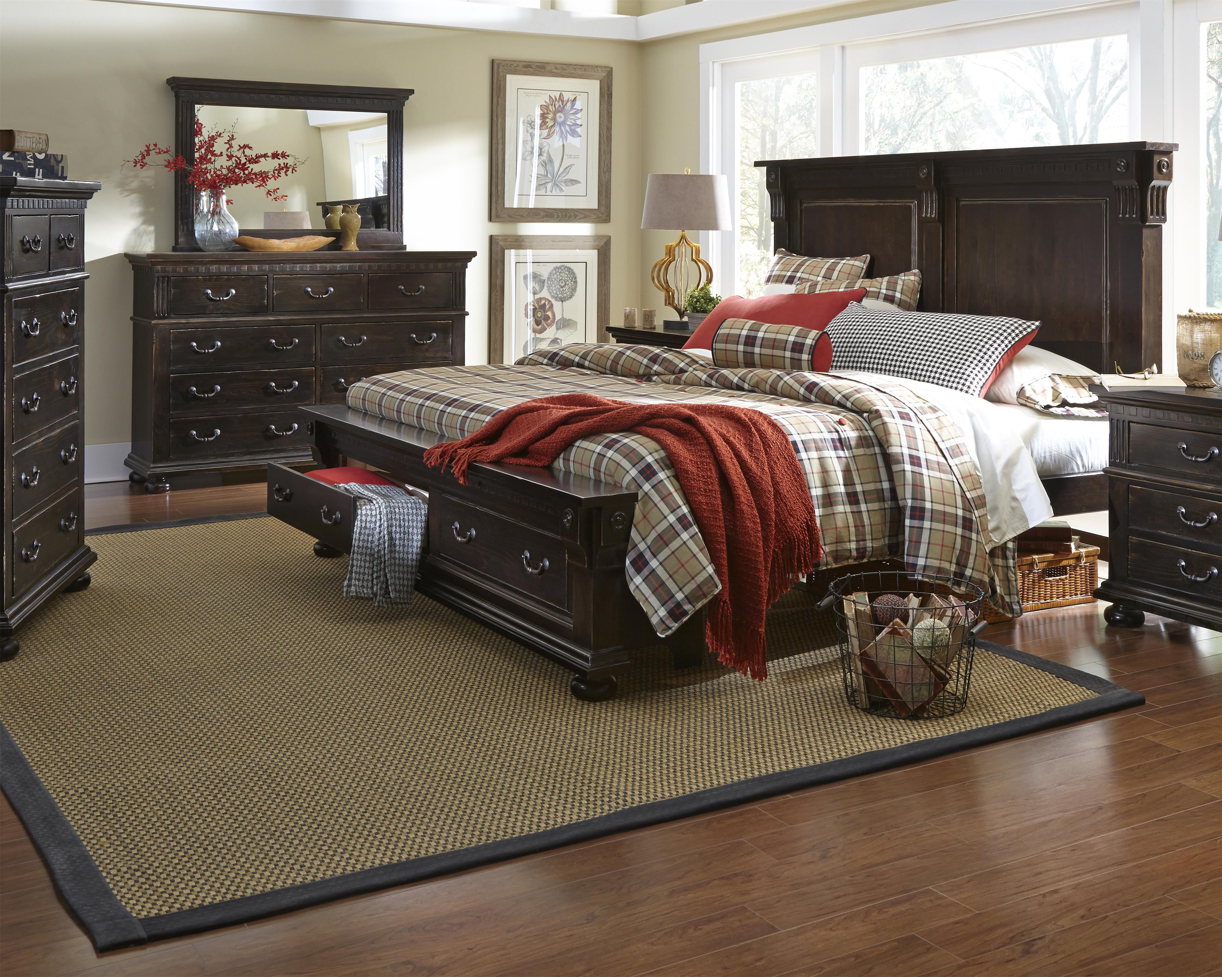 Furniture La Cantera Queen Bedroom Group Item Number P665 Q Bedroom
