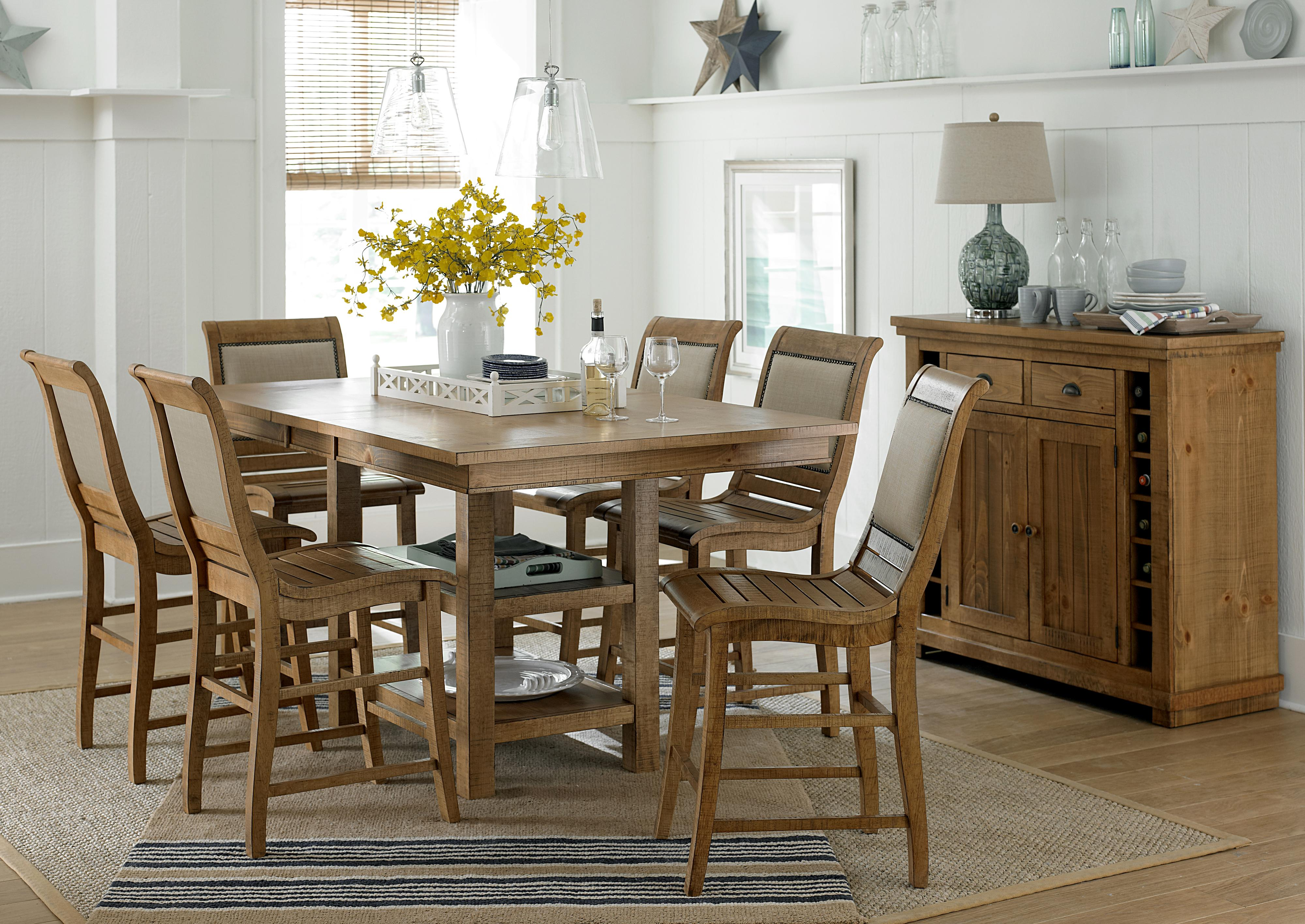 Progressive furniture willow dining casual dining room for Informal dining room tables