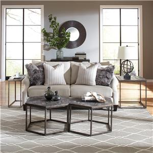 Riverside Furniture Chevron Chairside Table