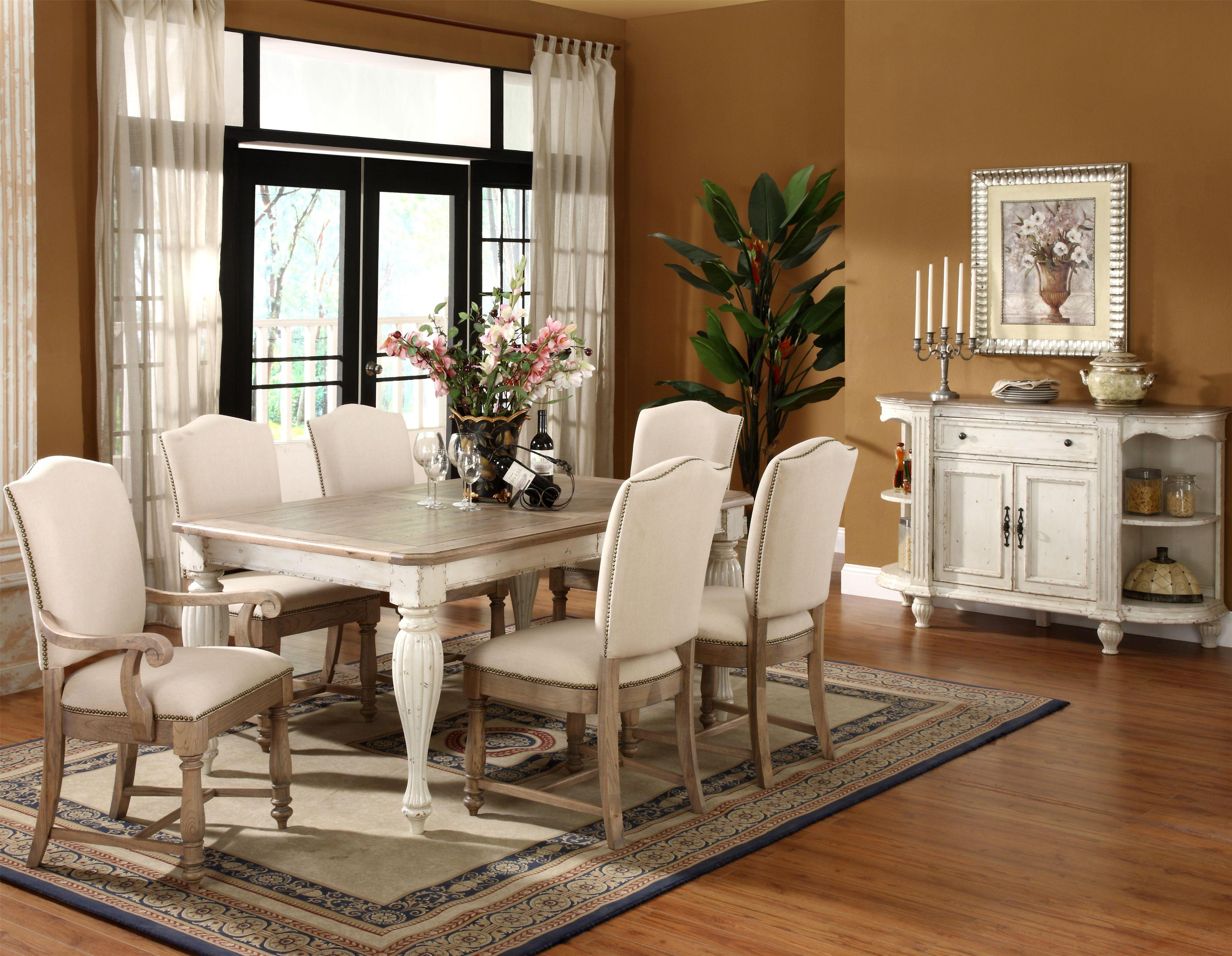 coventry two tone formal dining room group by riverside furniture wolf furniture. Black Bedroom Furniture Sets. Home Design Ideas