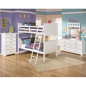 Signature Design By Ashley Lulu Twin Loft Bed W Loft Drawer Storage Colder S Furniture And