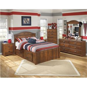 Signature Design By Ashley Barchan Full Bookcase Bed With