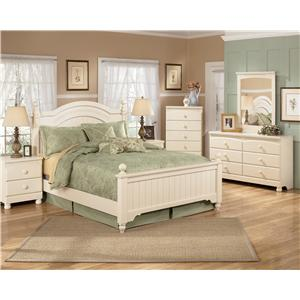 Signature design by ashley cottage retreat day bed with trundle ahfa daybed Cottage retreat collection bedroom furniture