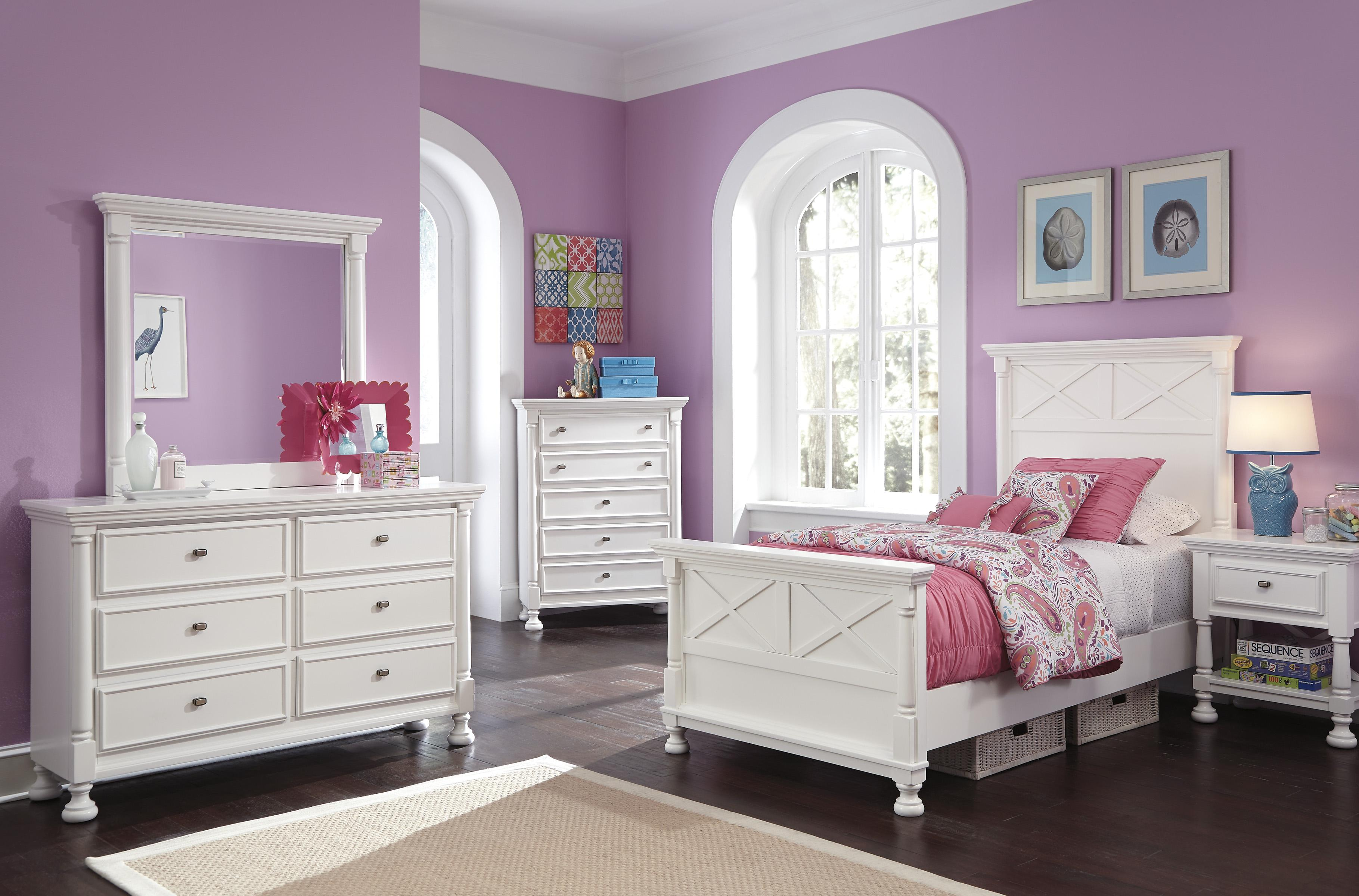 Ashley signature design kaslyn twin bedroom group dunk for Bedroom furniture groups