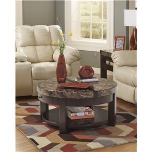 Signature Design by Ashley Furniture Kraleene Round Lift Top