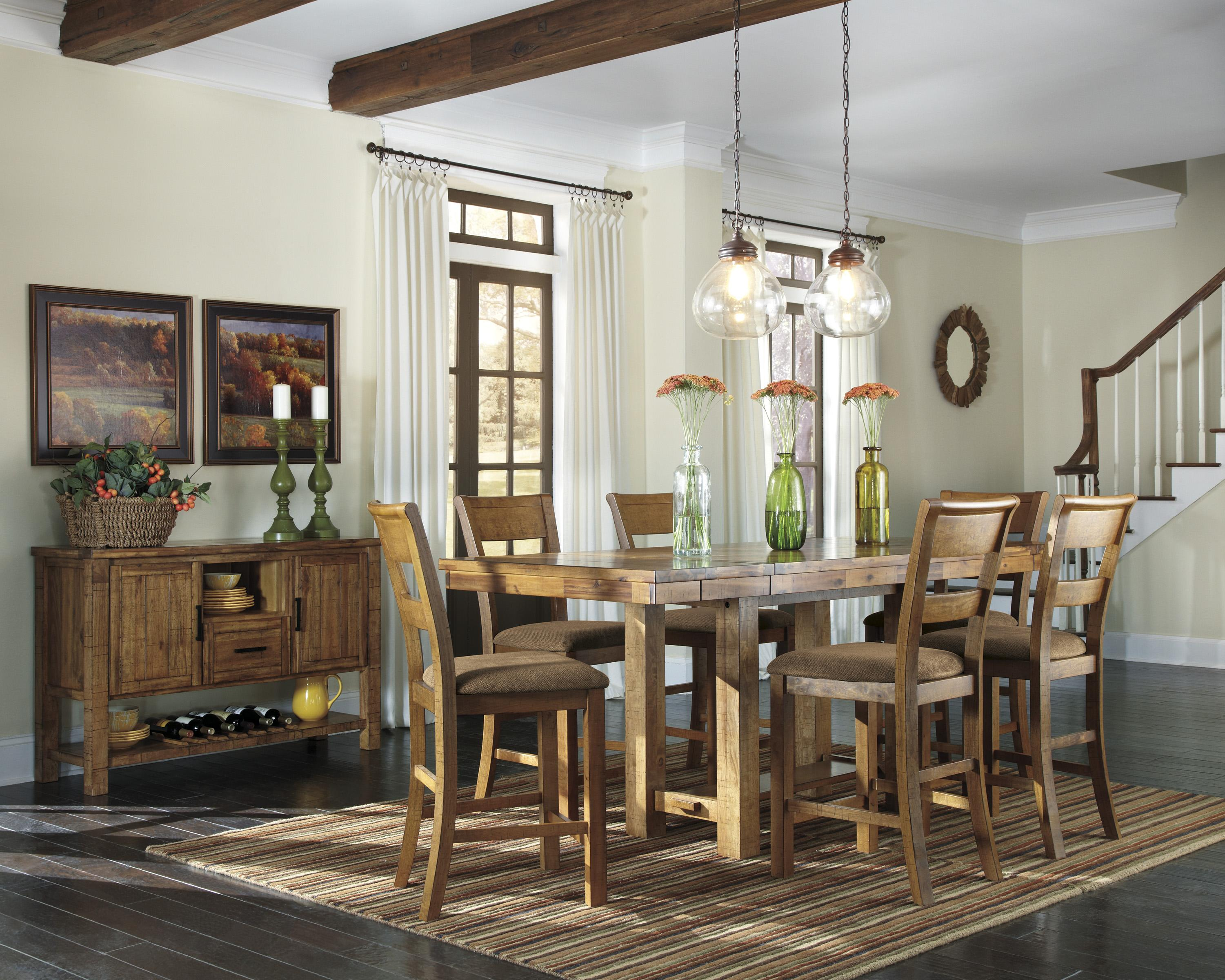 Signature design by ashley krinden casual dining room for Casual dining room photos