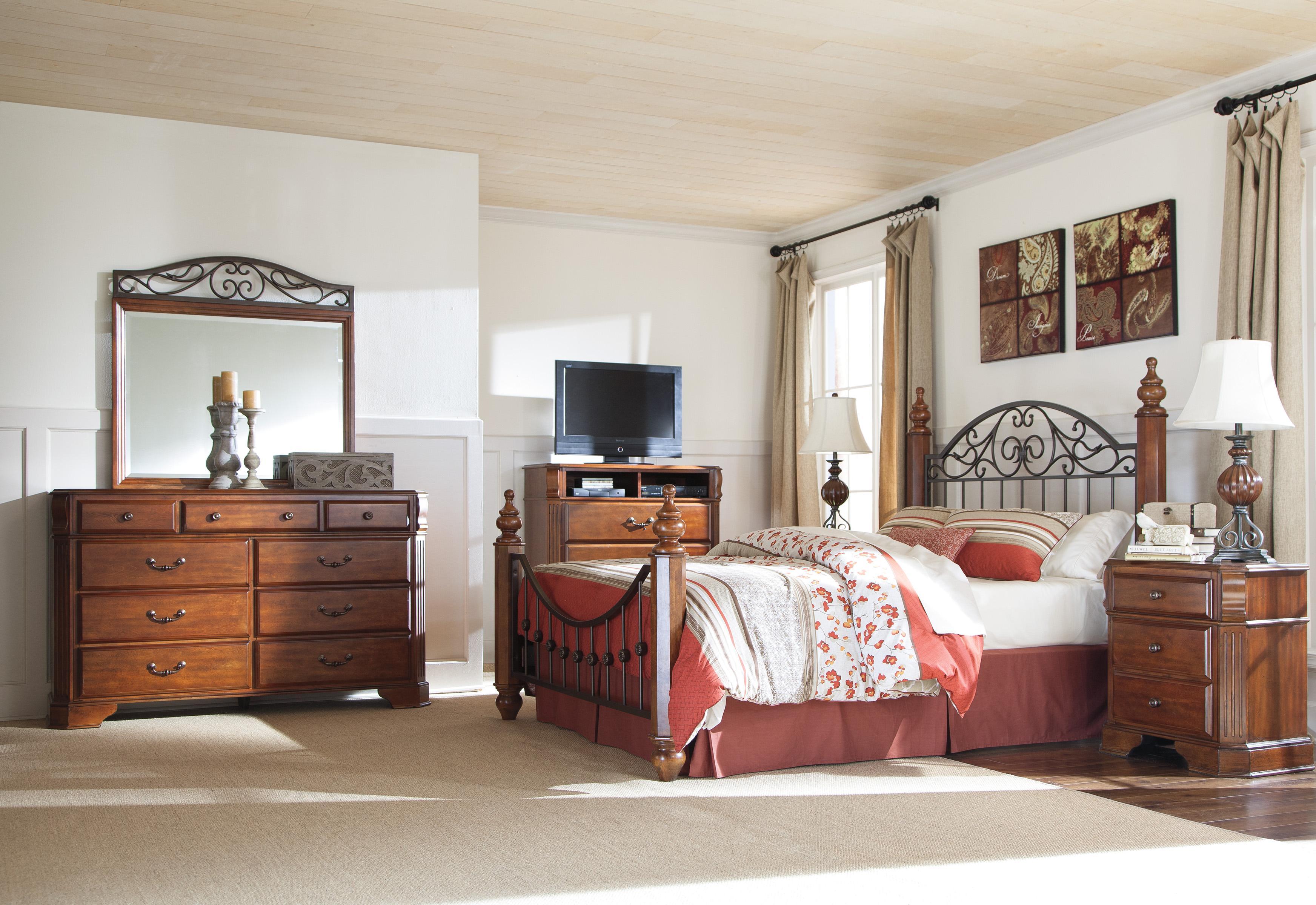 Styleline wyatt queen bedroom group efo furniture outlet bedroom group dunmore scranton for Ashley wilkes bedroom collection