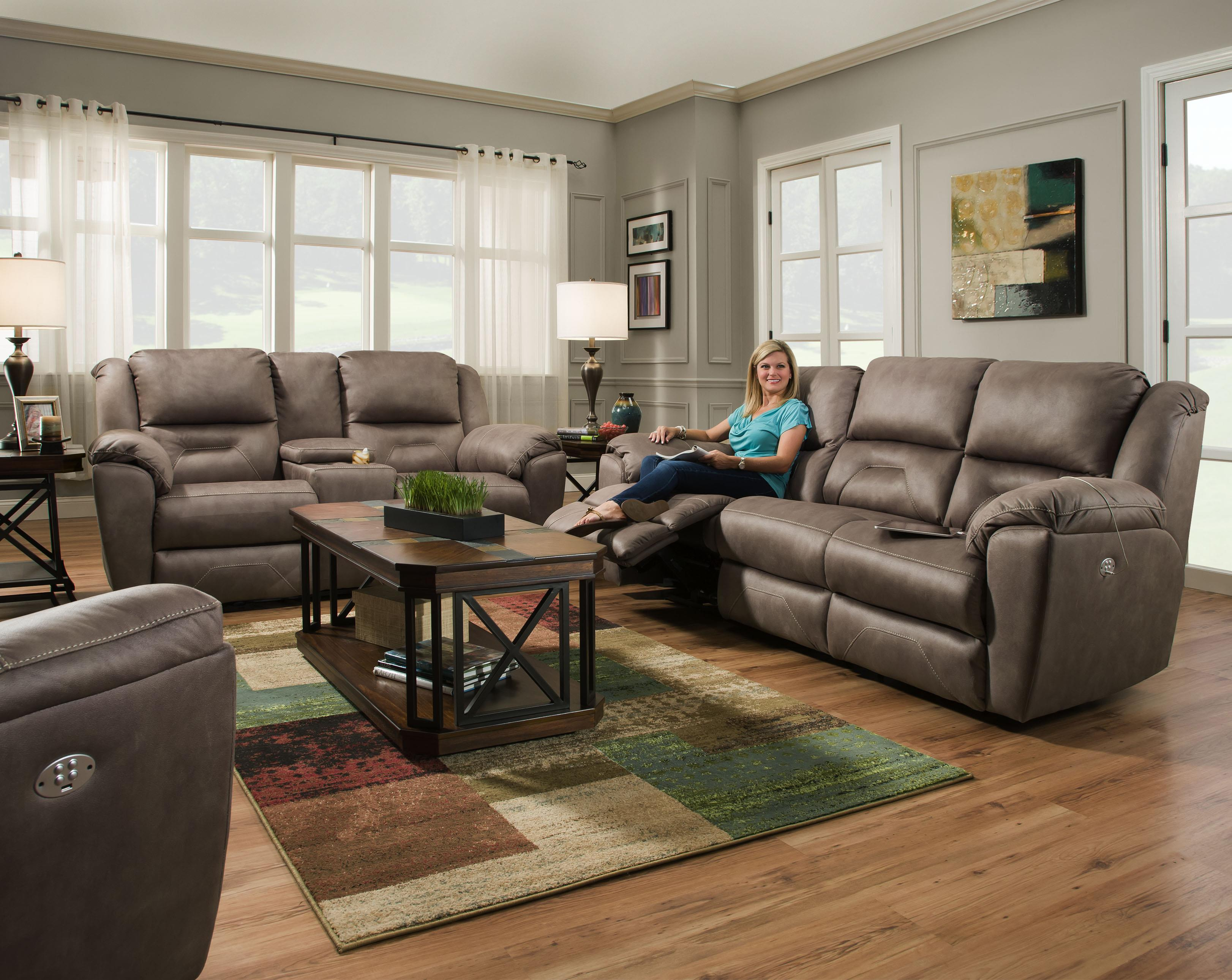 Southern motion pandora reclining living room group becker furniture world reclining living for Motion living room furniture