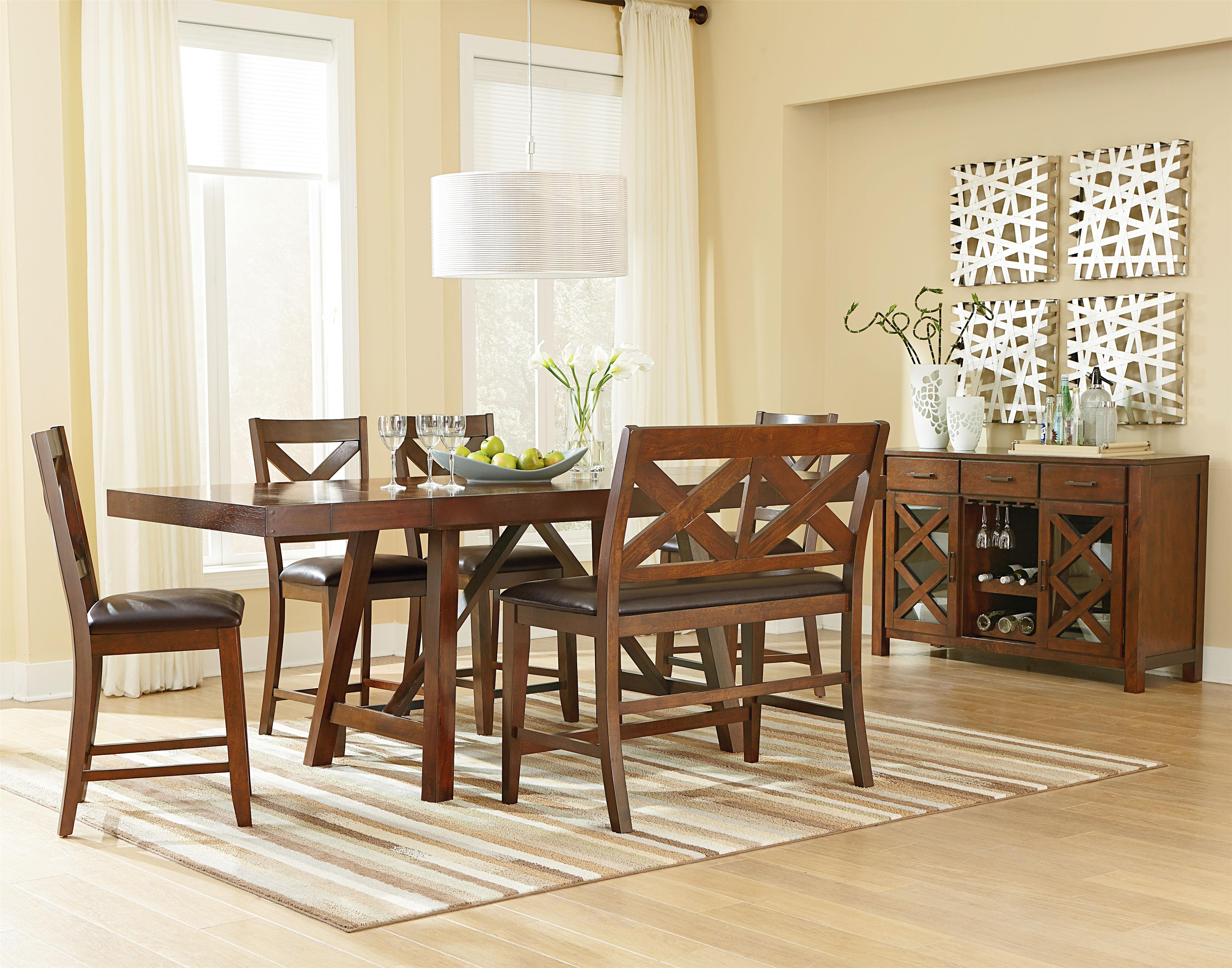Omaha brown casual dining room group by standard furniture for Casual dining room furniture