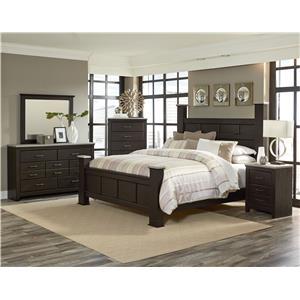 Standard furniture stonehill dark queen bedroom group standard furniture bedroom groups for Bedroom furniture huntsville al