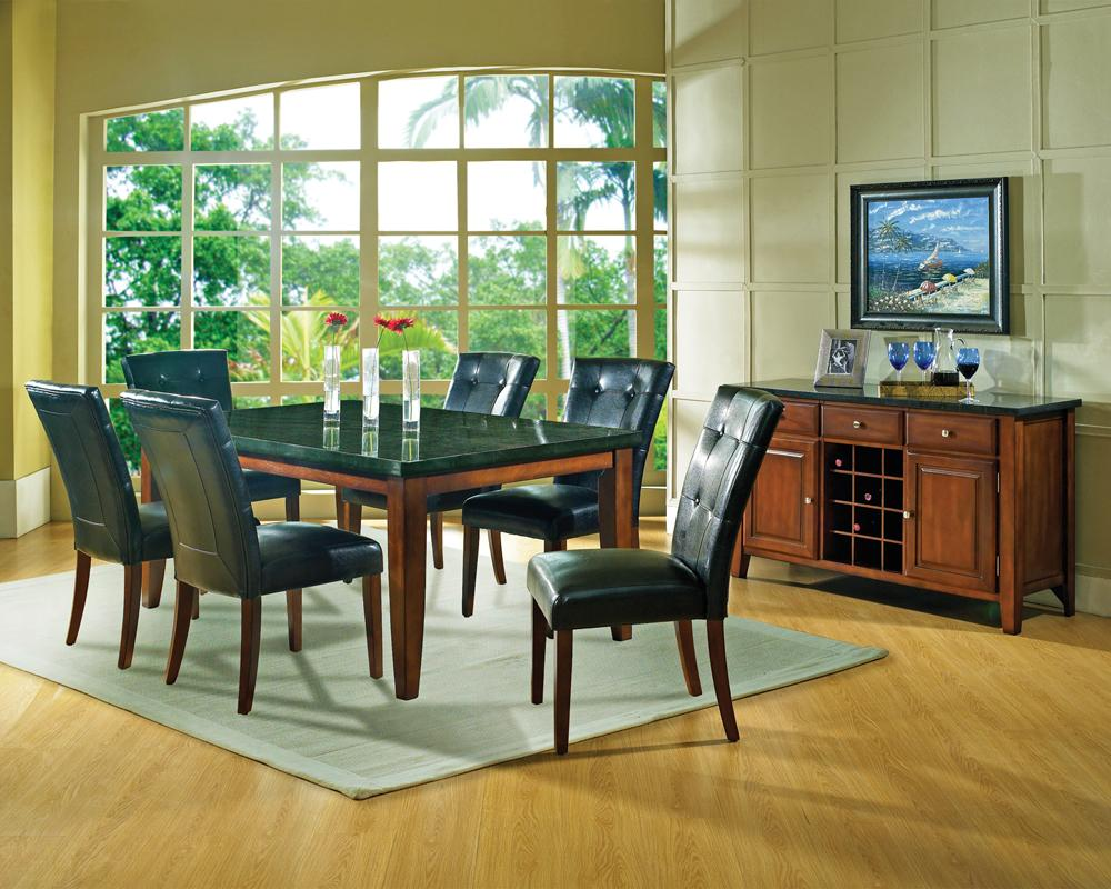 Steve silver granite bello casual dining room group for Casual dining room photos