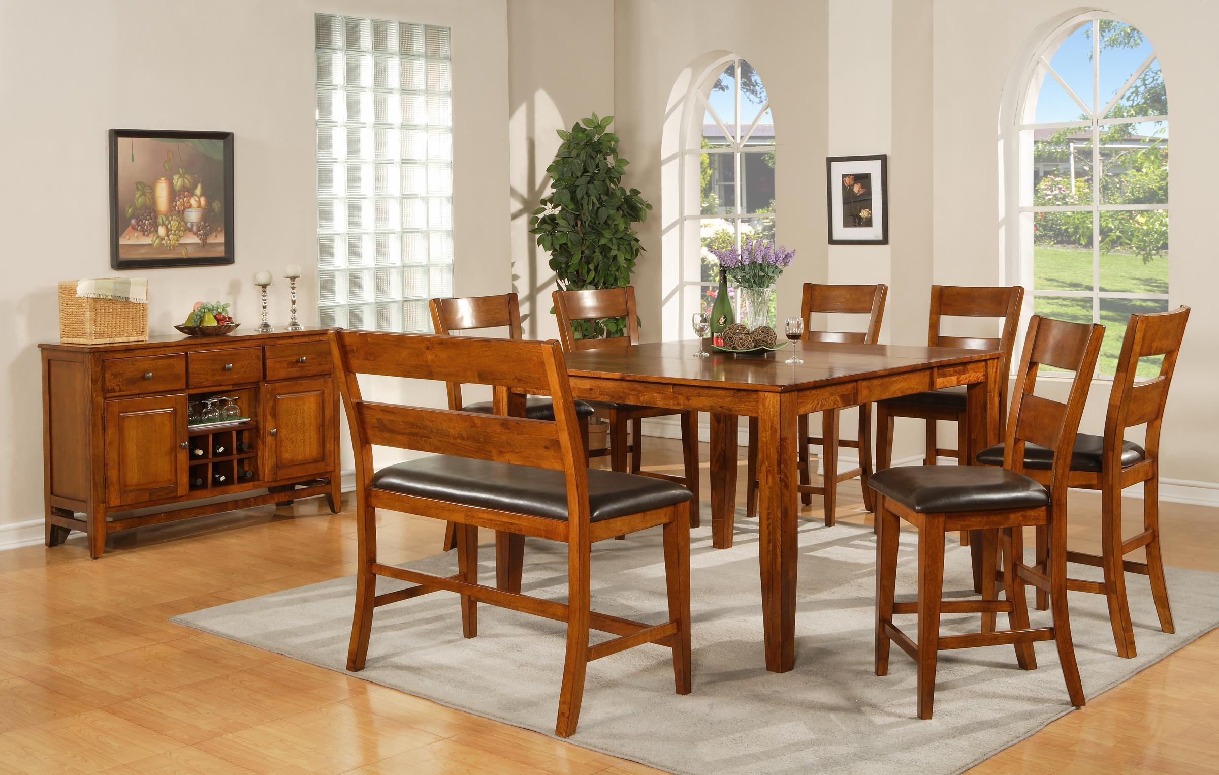 Steve silver mango casual dining room group wayside for Casual dining room photos